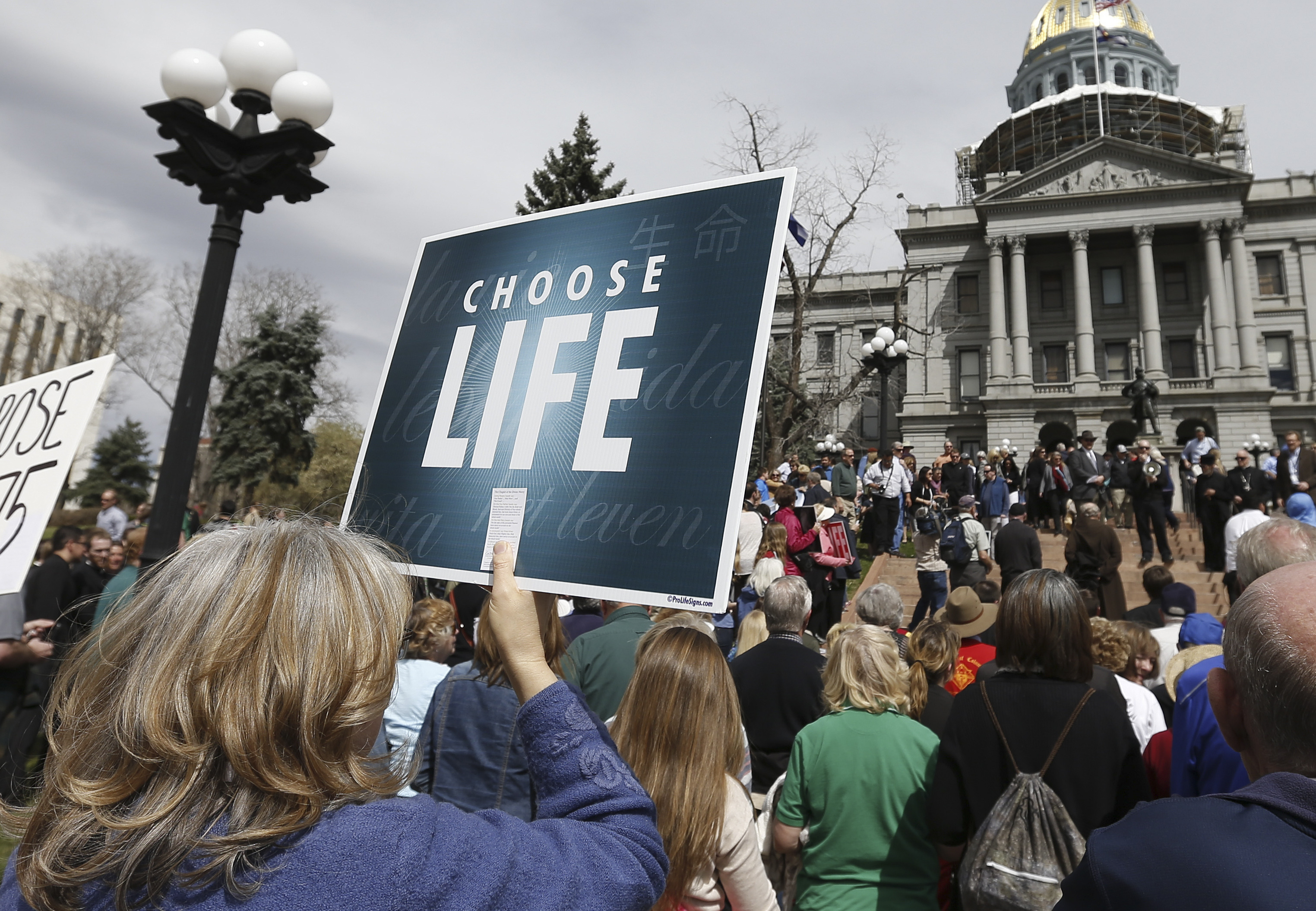 Photo: Abortion rally at Colorado Capitol (AP Photo)