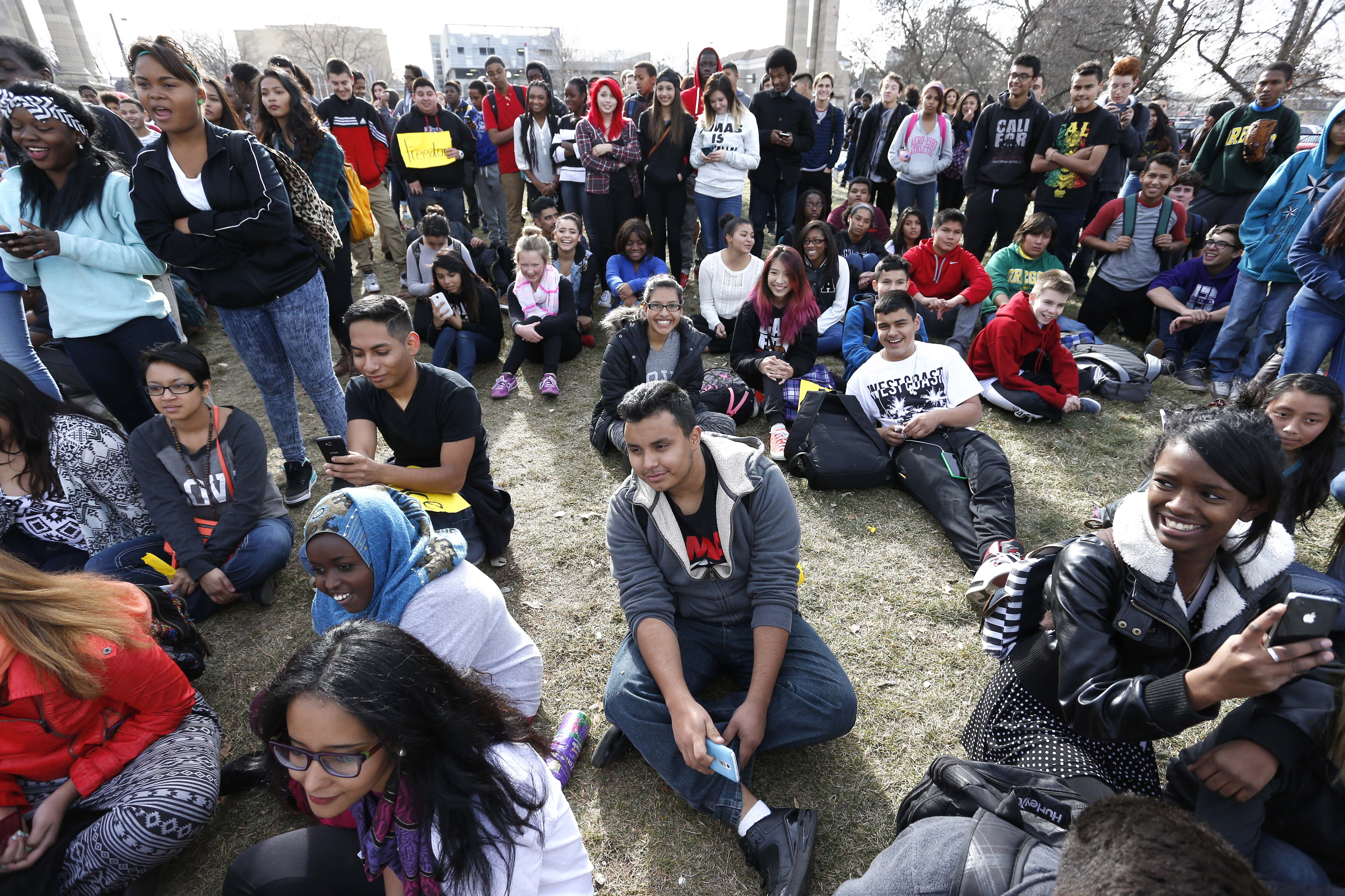 Photo: South High students protest (AP Photo)
