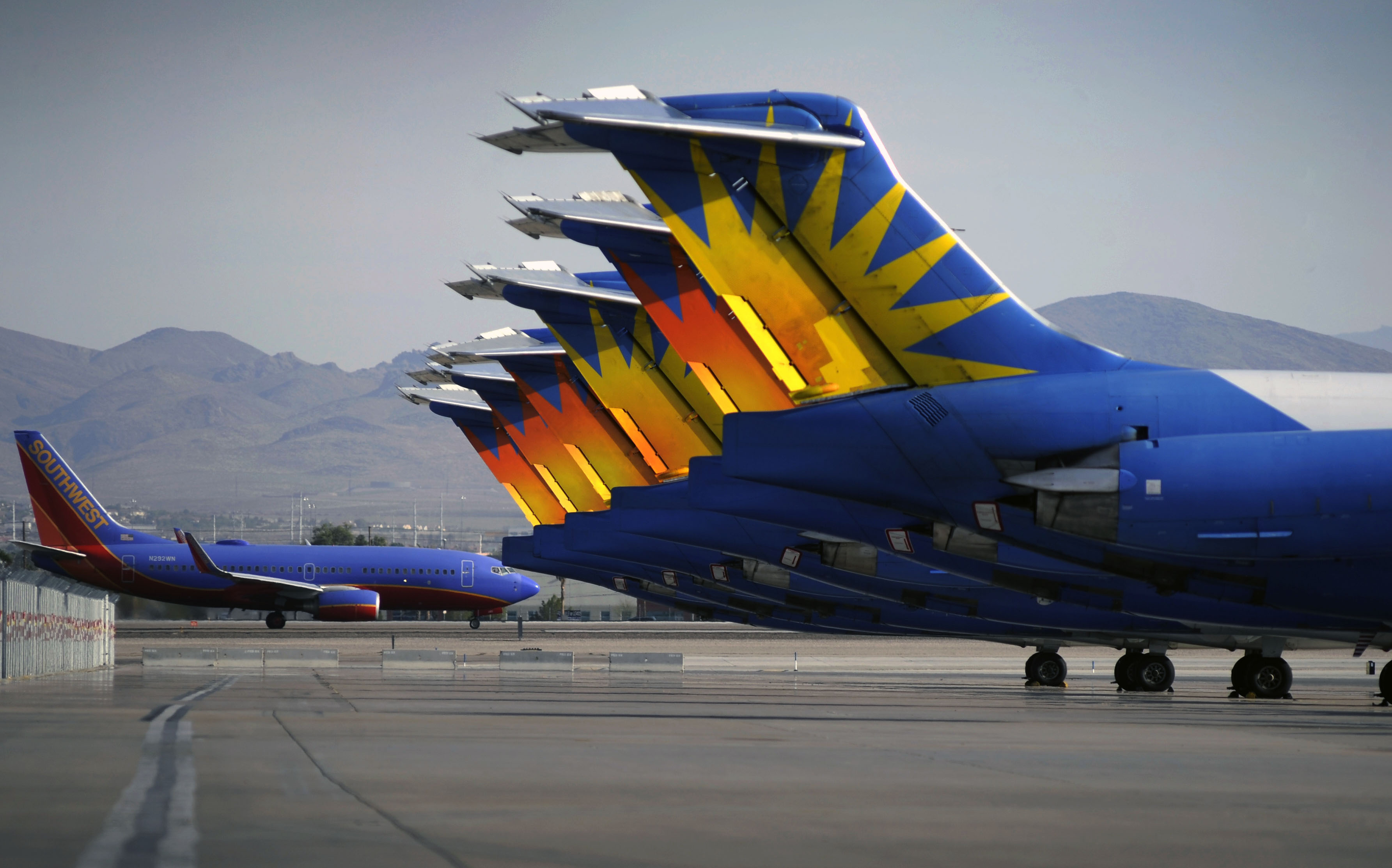 Photo: Allegiant Air jets (AP Photo)