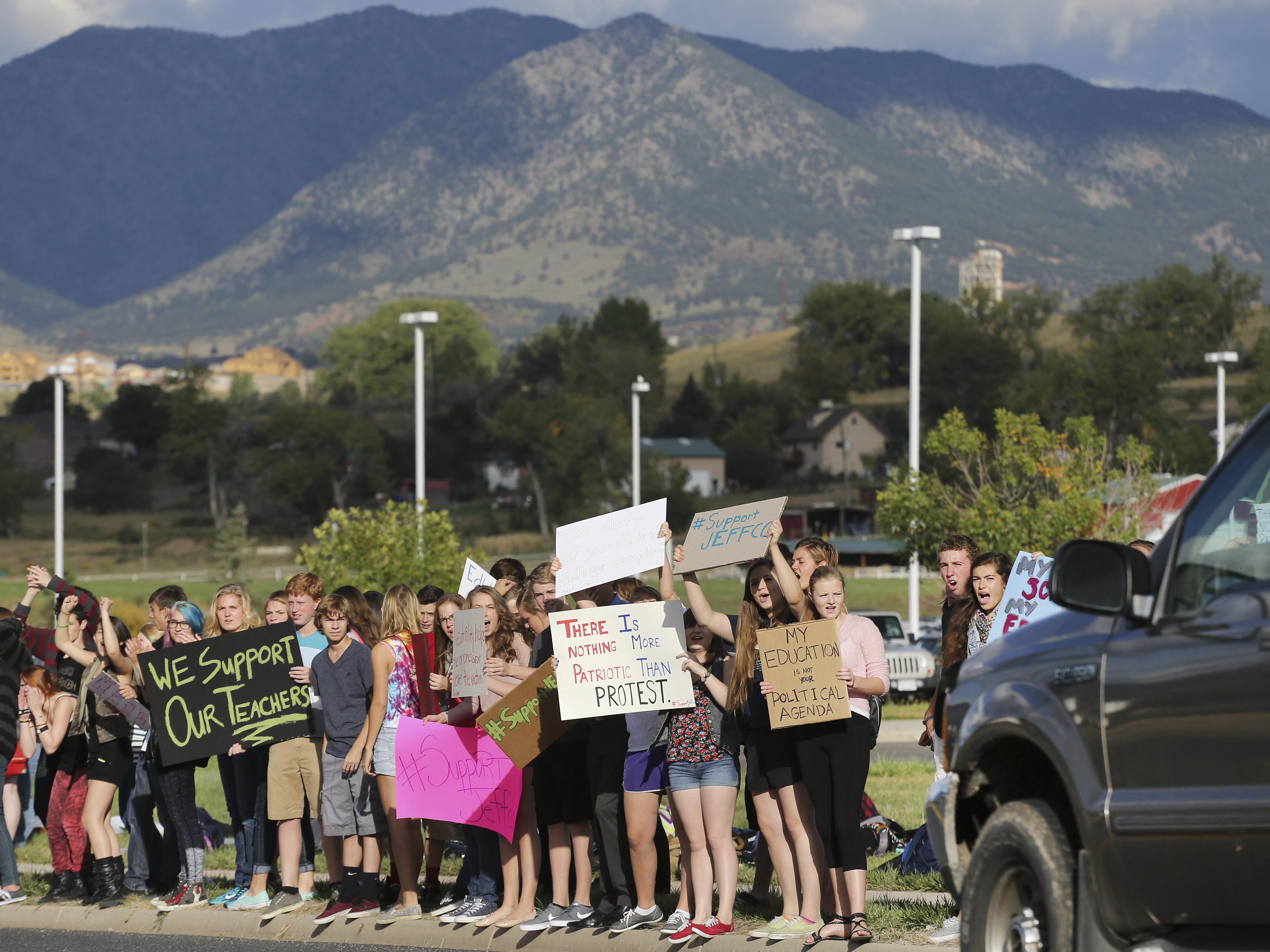Photo: JeffCo protest 5