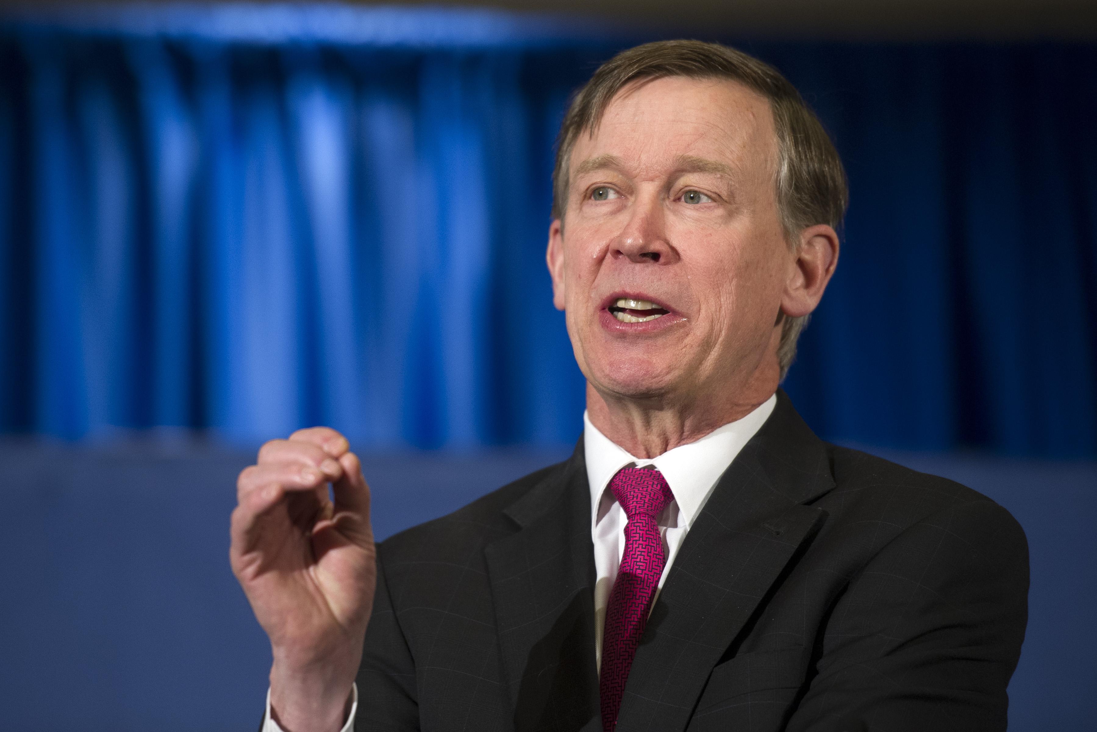 Photo: John Hickenlooper in Washington (AP Photo)