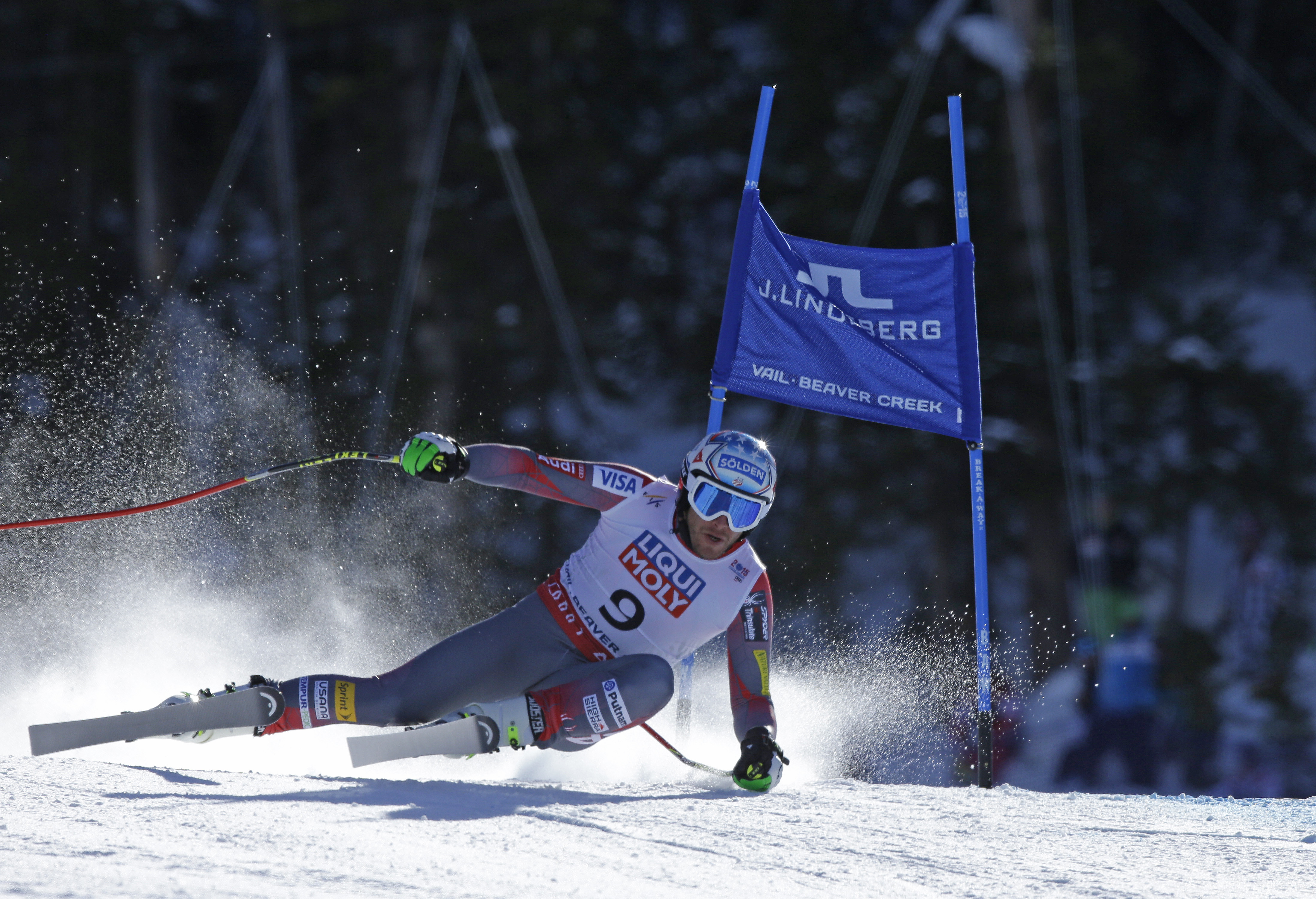 Photo: Bode Miller crashes super G