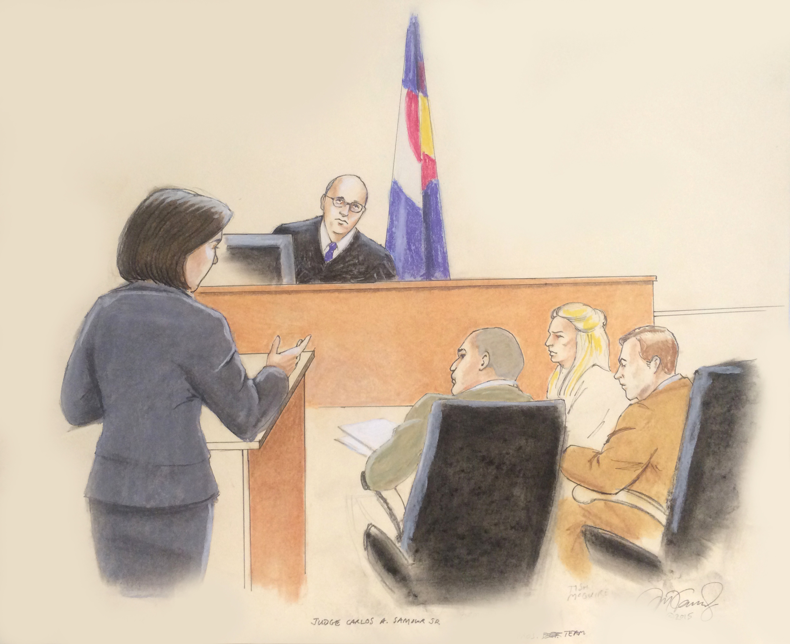Photo: Aurora theater shooting jury selection sketch