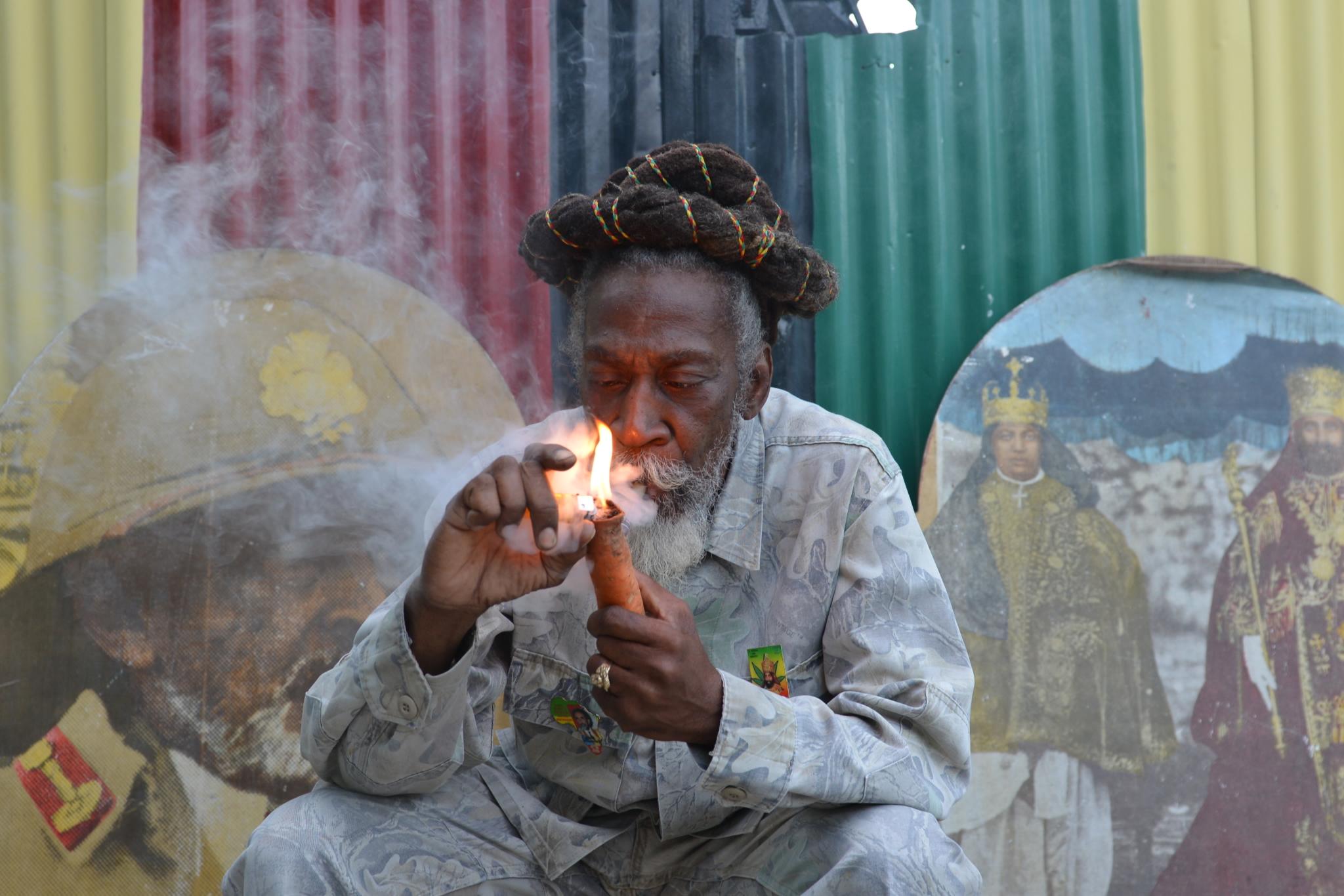 Photo: Smoking pot in Jamaica