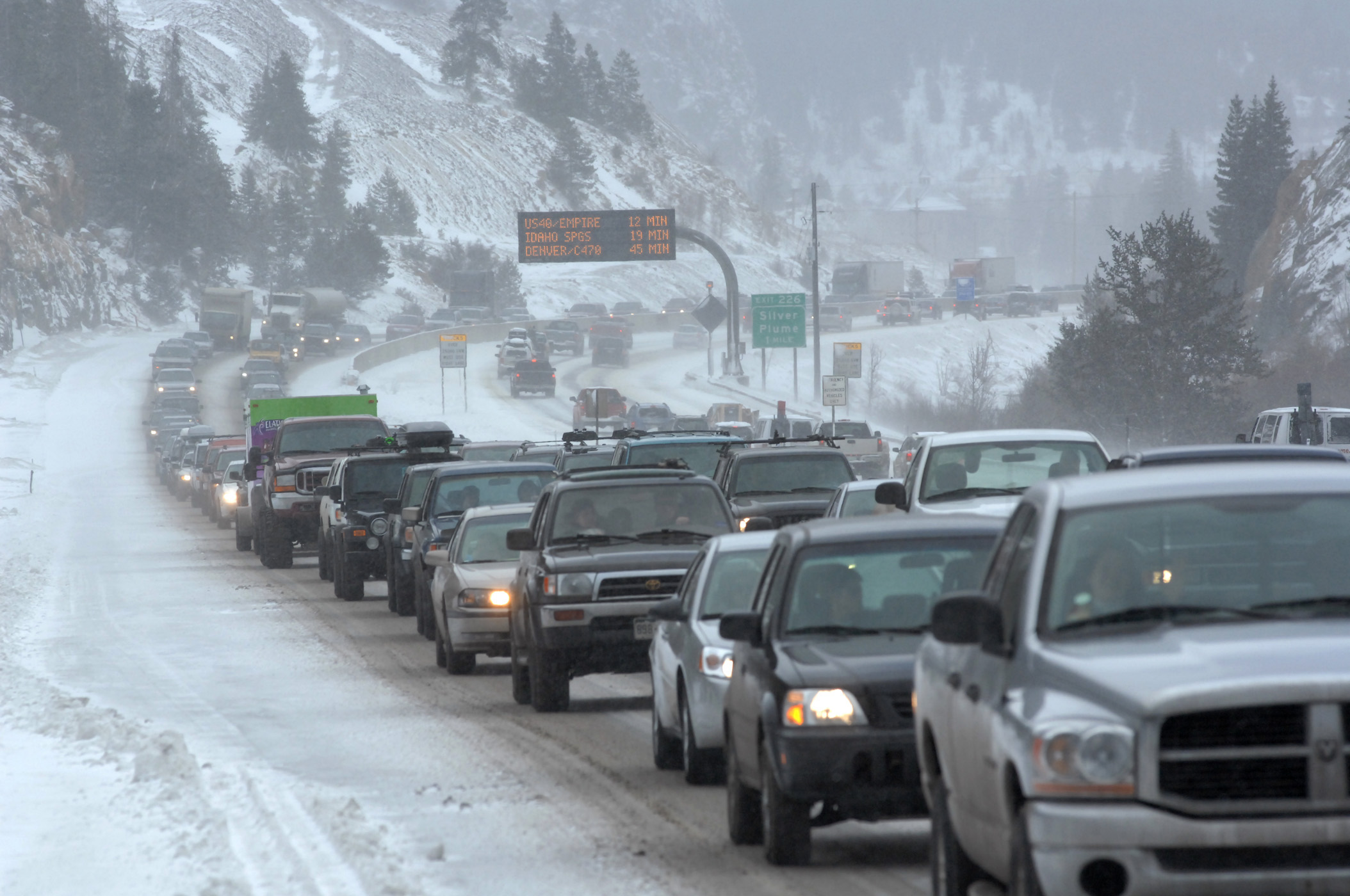 Photo: Interstate 70 traffic I-70 (AP Photo)