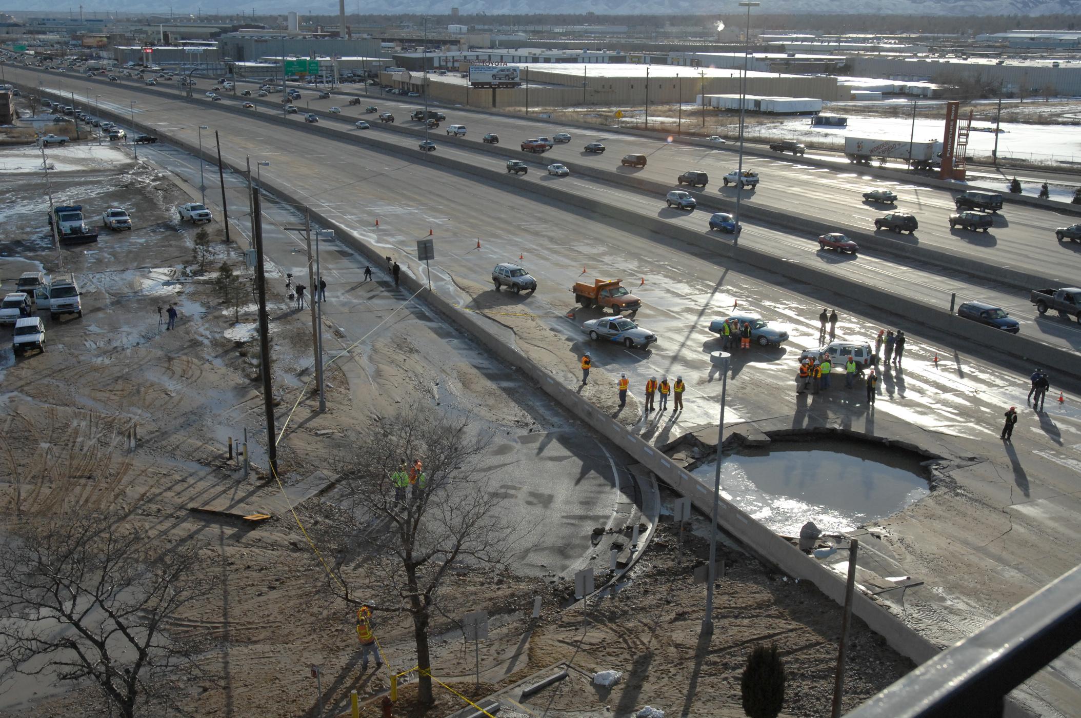 Photo: 2008 Sinkhole On I-25