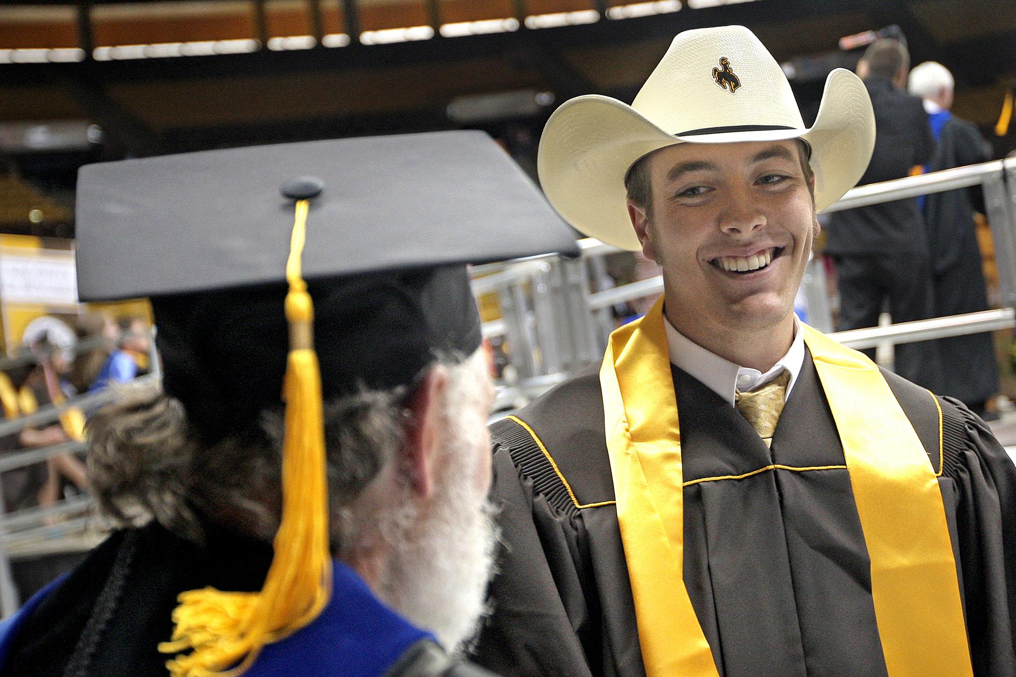 Photo: Univeristy of Wyoming Graduation 2008 - AP