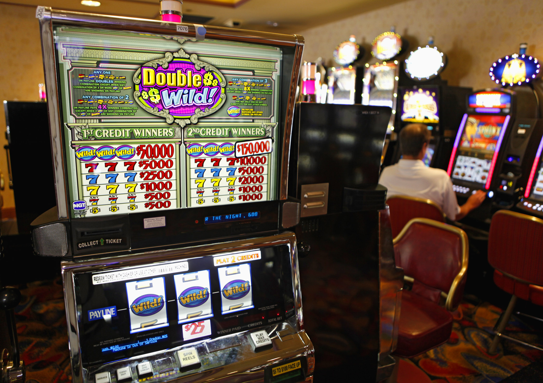 Photo: Central City casino slot machine (AP Photo)