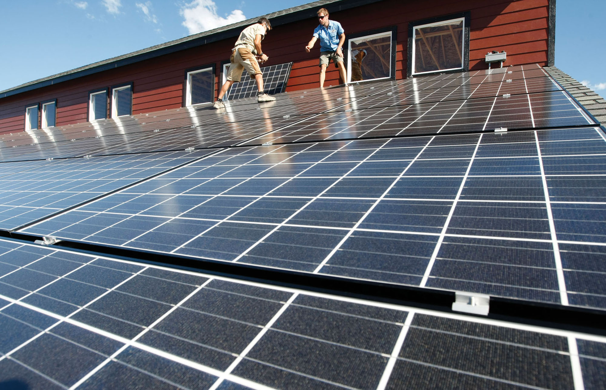 Photo: Rooftop solar panels in Hesperus, Colorado
