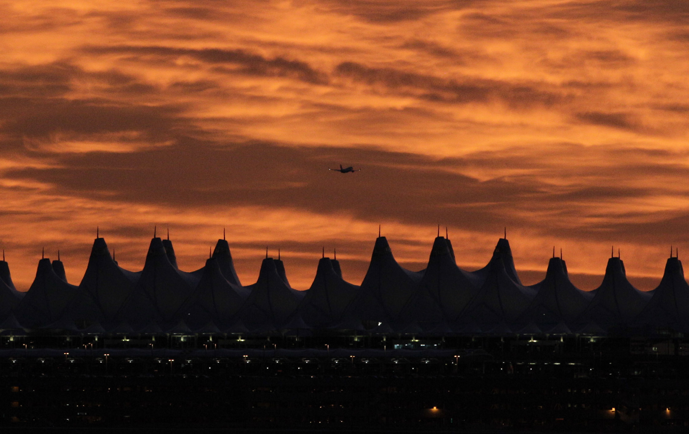 Photo: Denver International Airport Sunset (AP File)