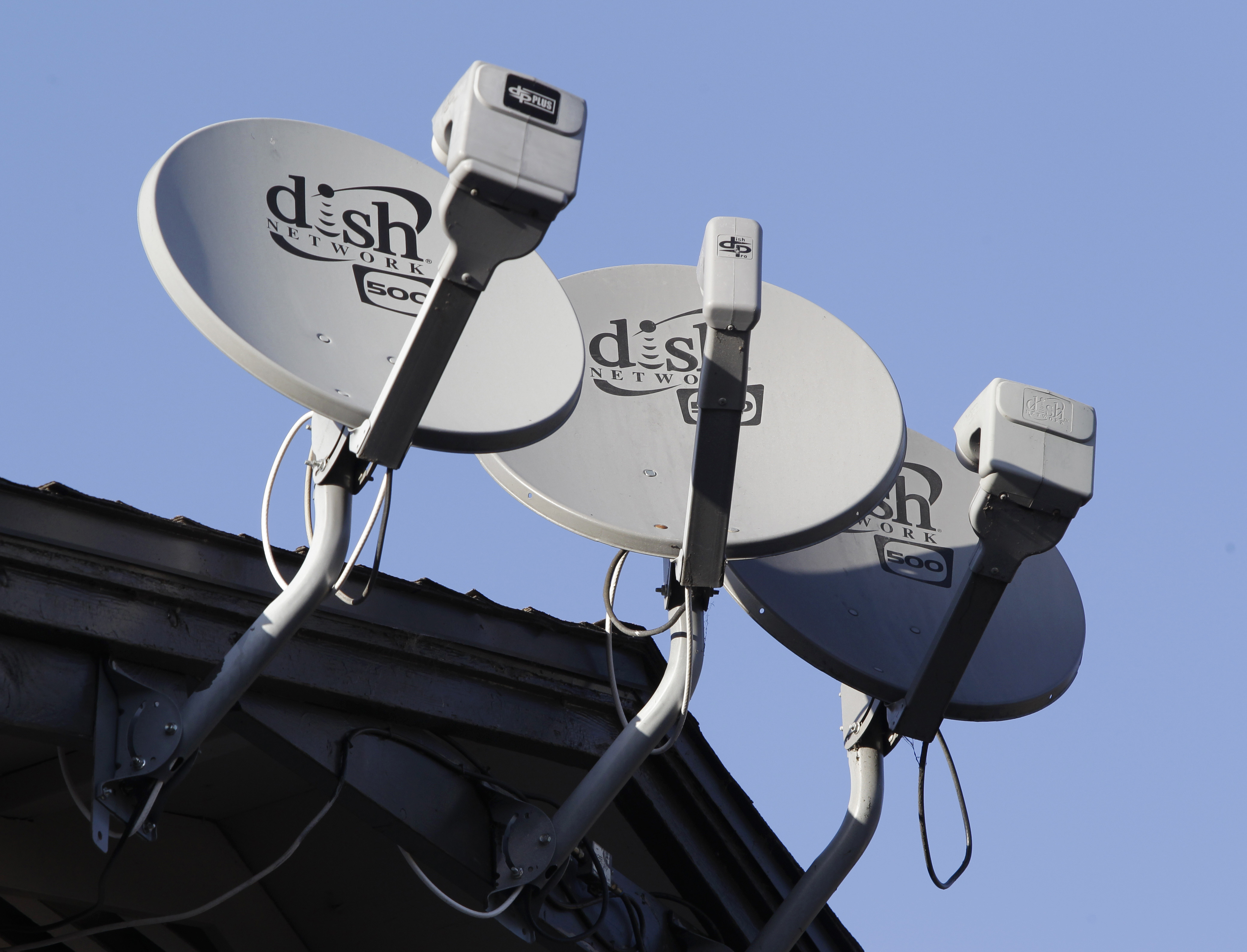 Photo: Dish Network Satellite Dishes On Rooftop