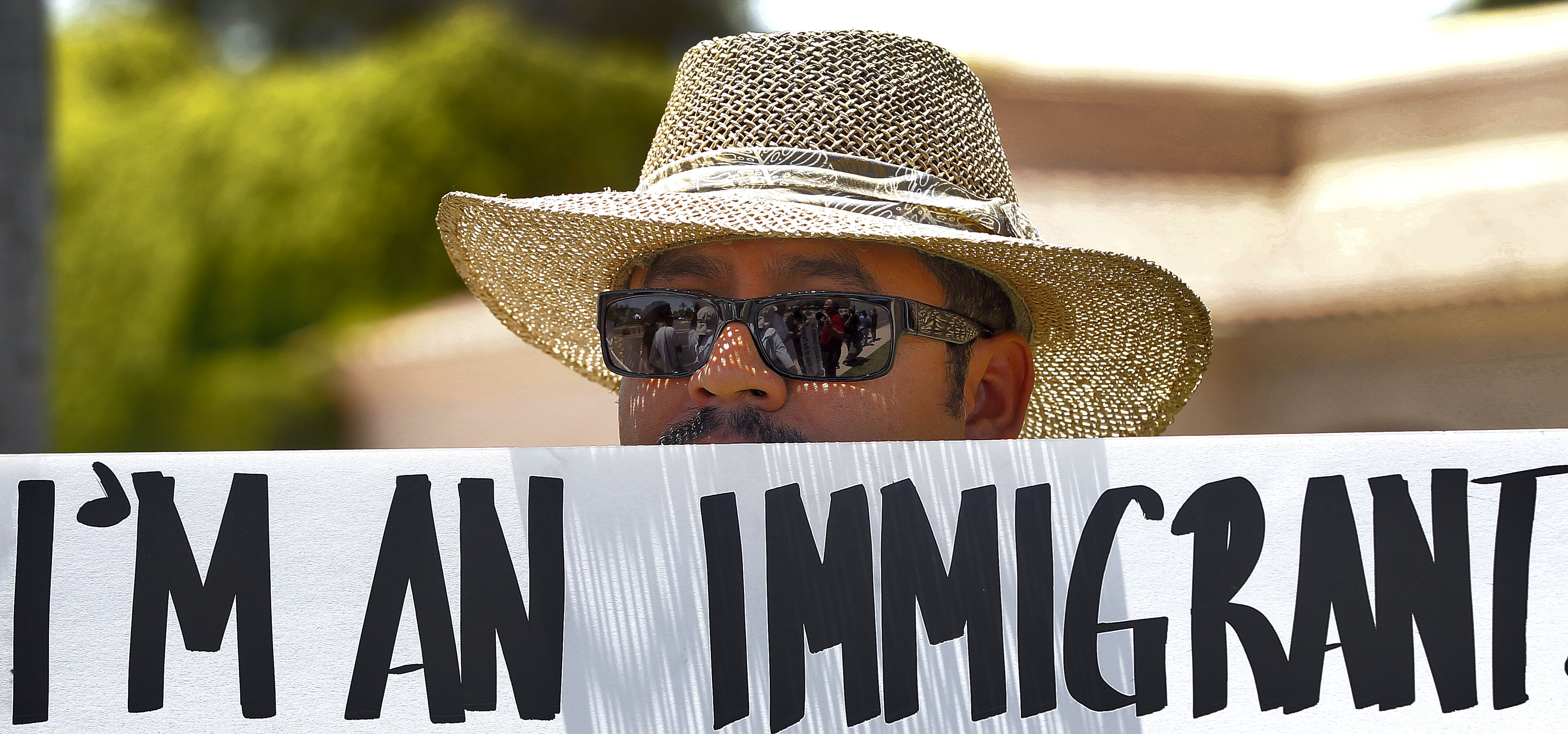 Photo: Demonstrating for immigrant rights in Arizona (AP file)