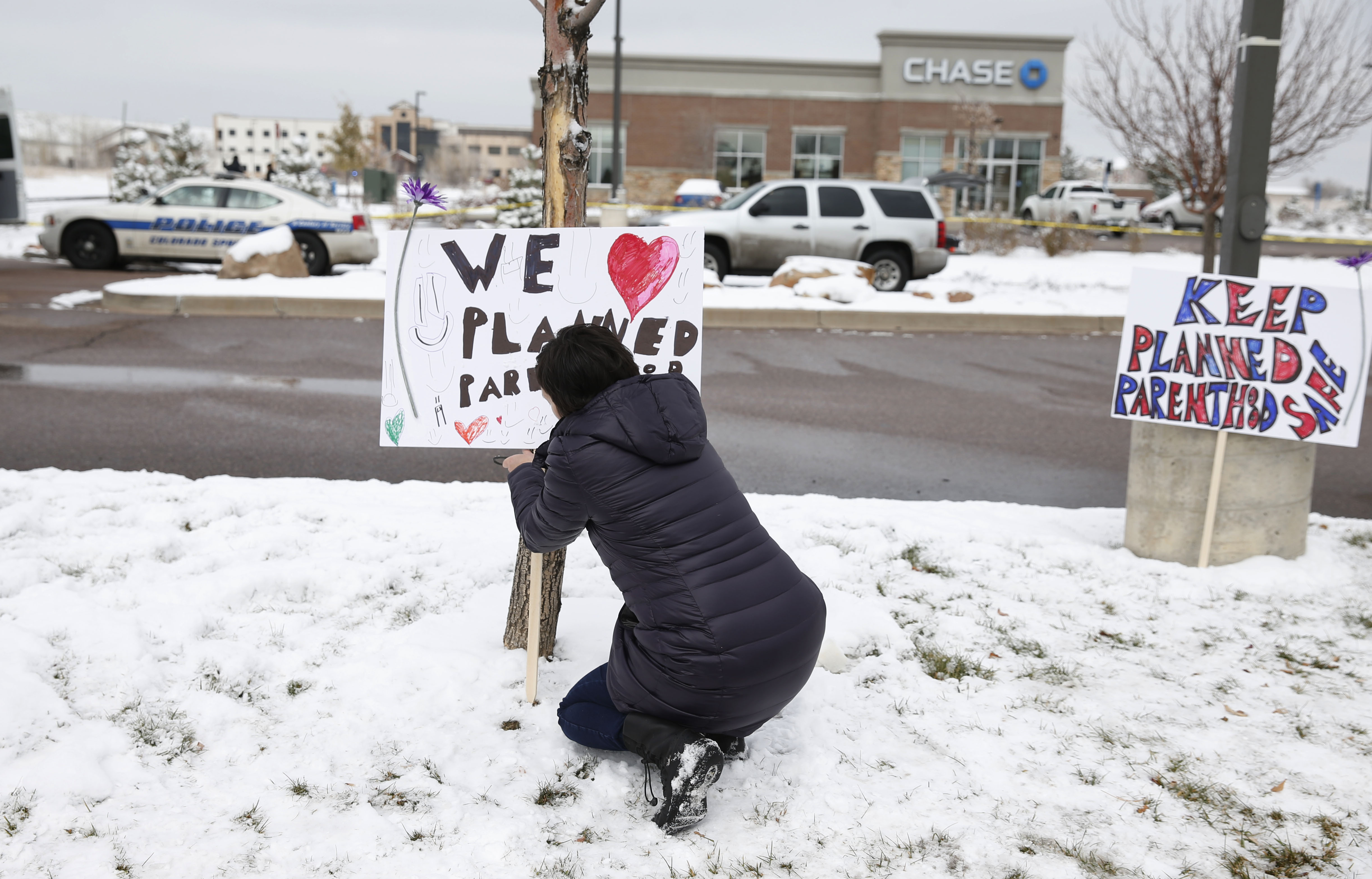 Photo: Sign supports Planned Parenthood (AP Photo)
