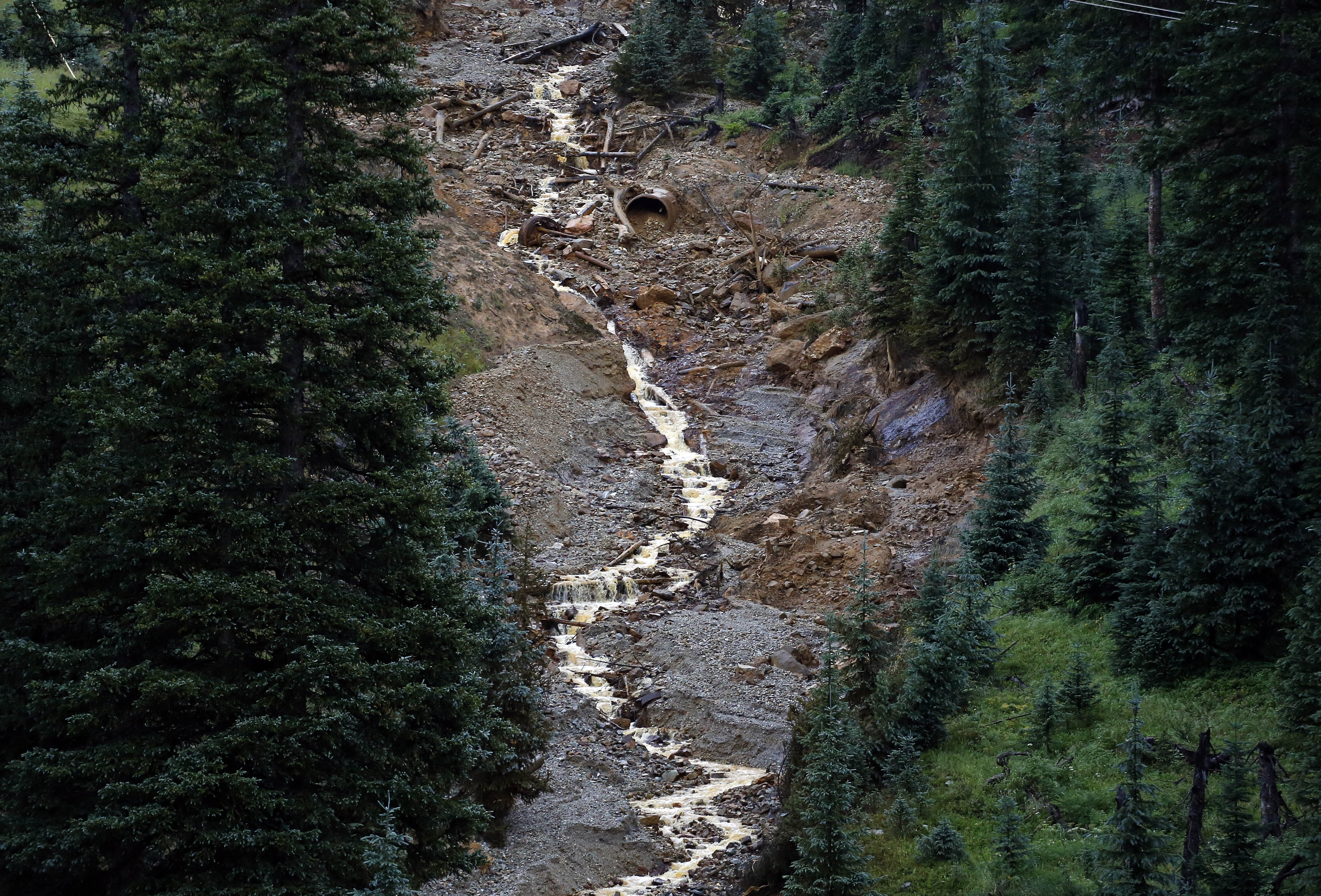 Photo: Gold King Mine Polluted Water Aug. 12, 2015 (AP)