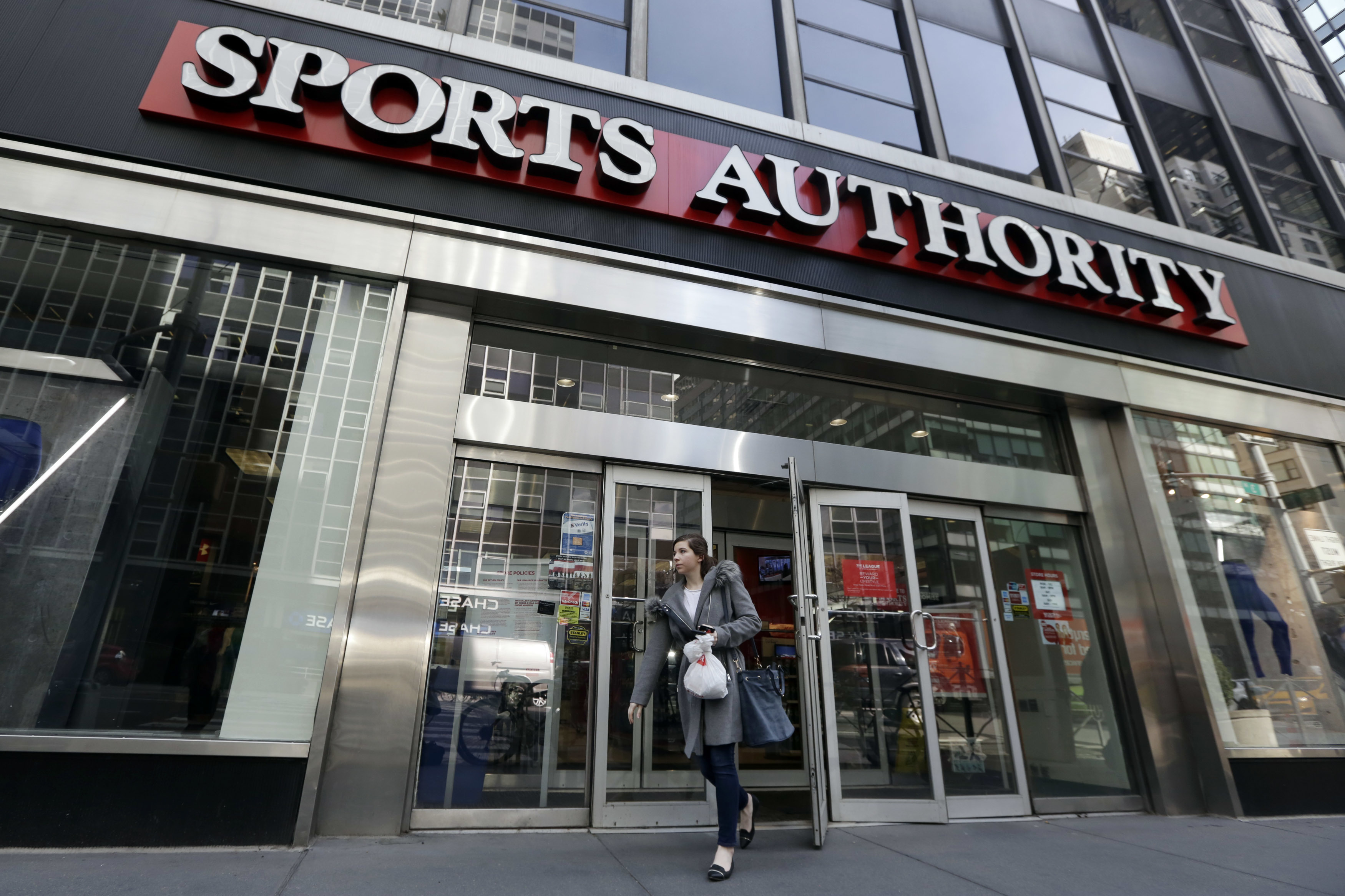 Photo: Sports Authority store in New York (AP Photo)