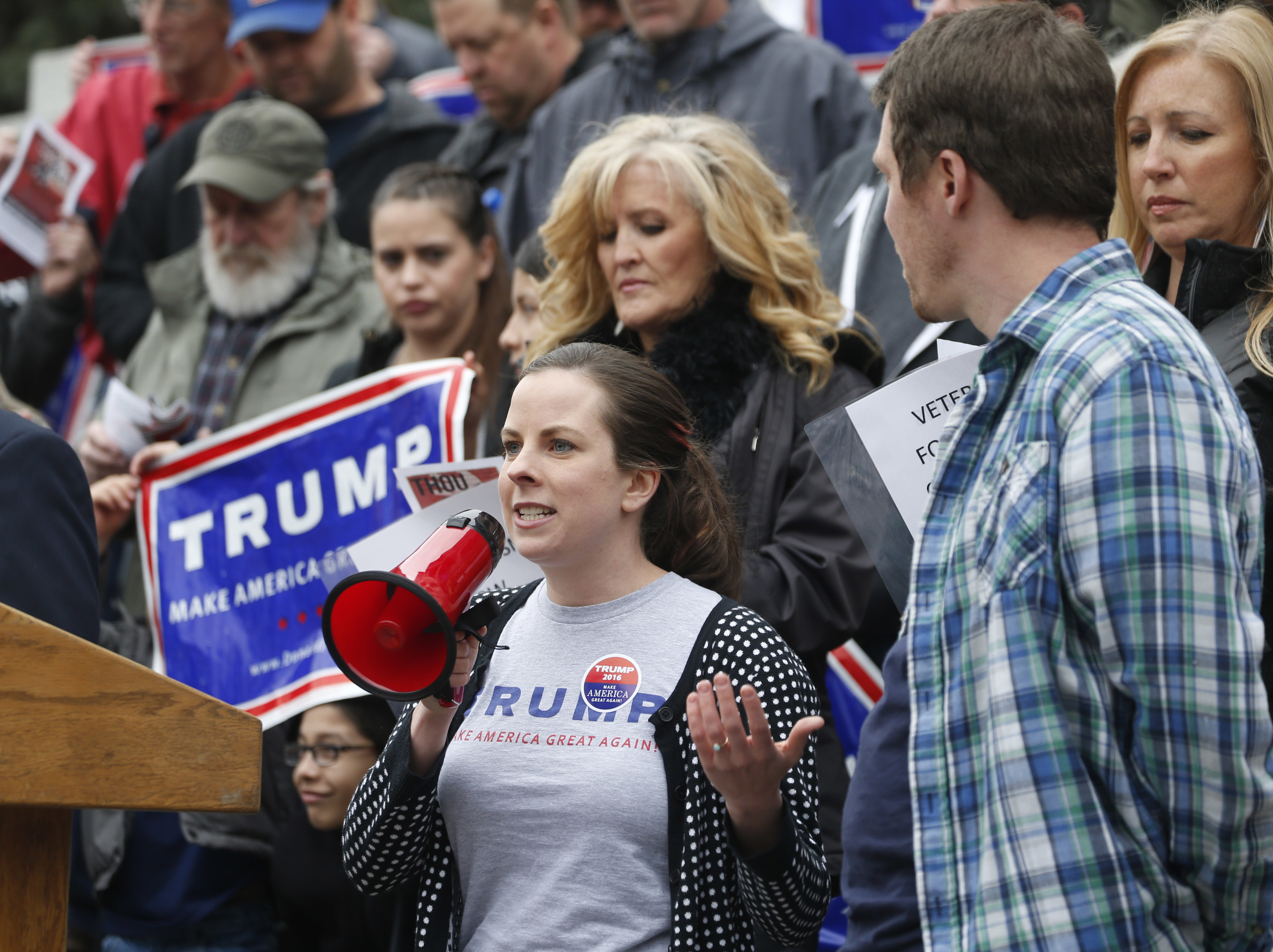 Photo: Trump rally at state Capitol (AP Photo)