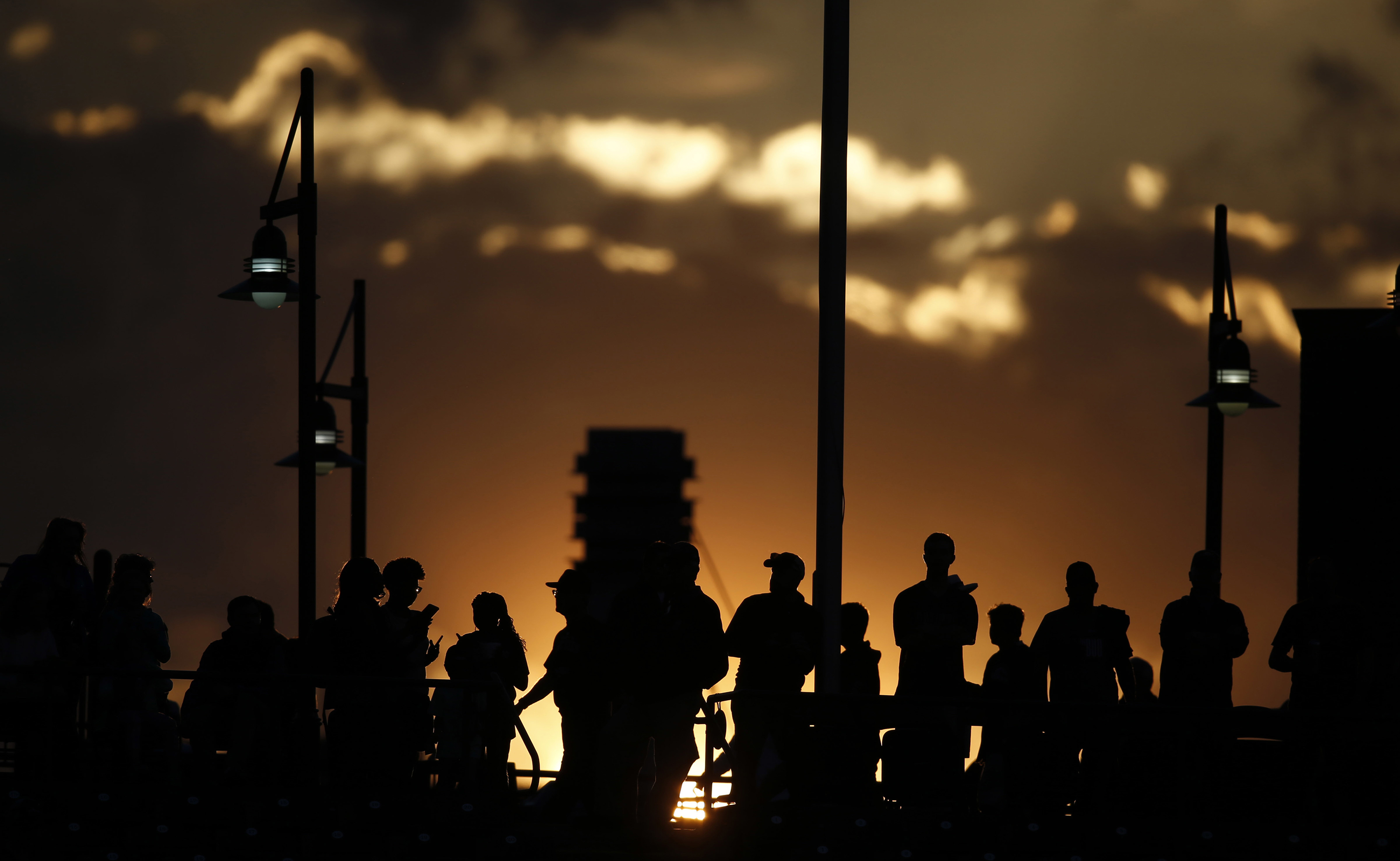 Photo: Coors Field Fans silhouetted