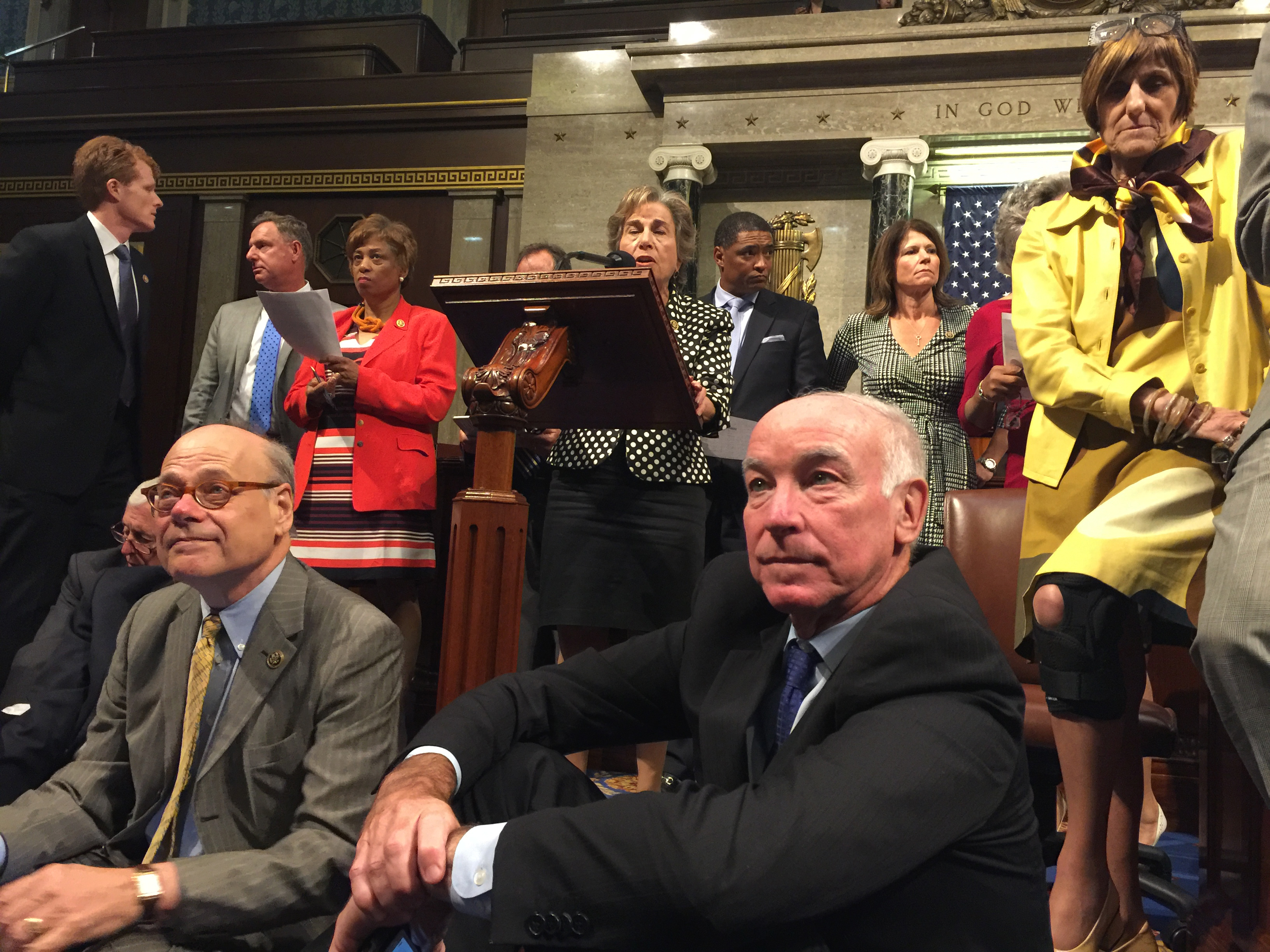 Photo: Congress Democrats Sit On Over Guns