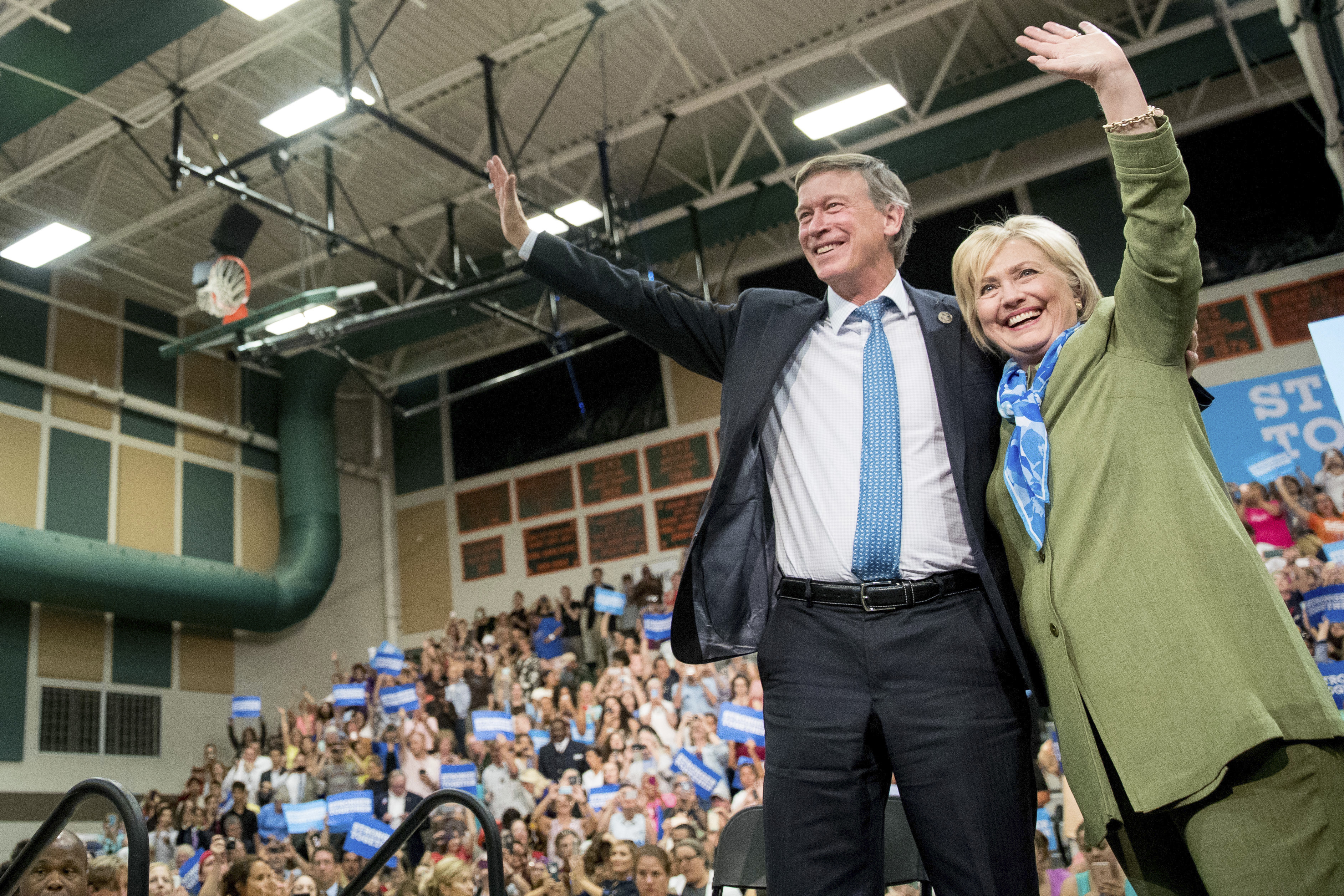 Photo: Clinton And Hickenlooper In Denver Aug. 3 2016