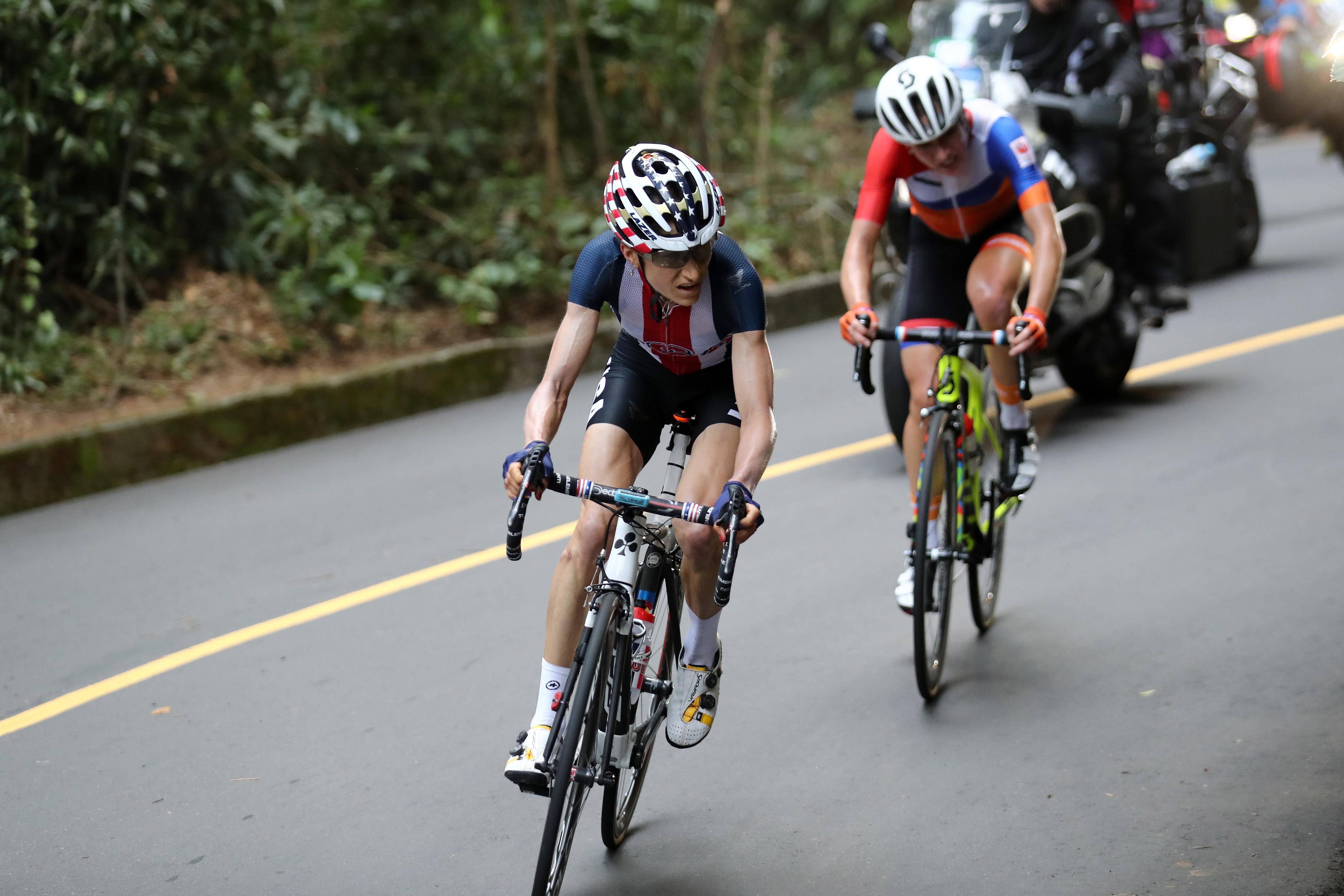 Photo: Mara Abbott at Olympics