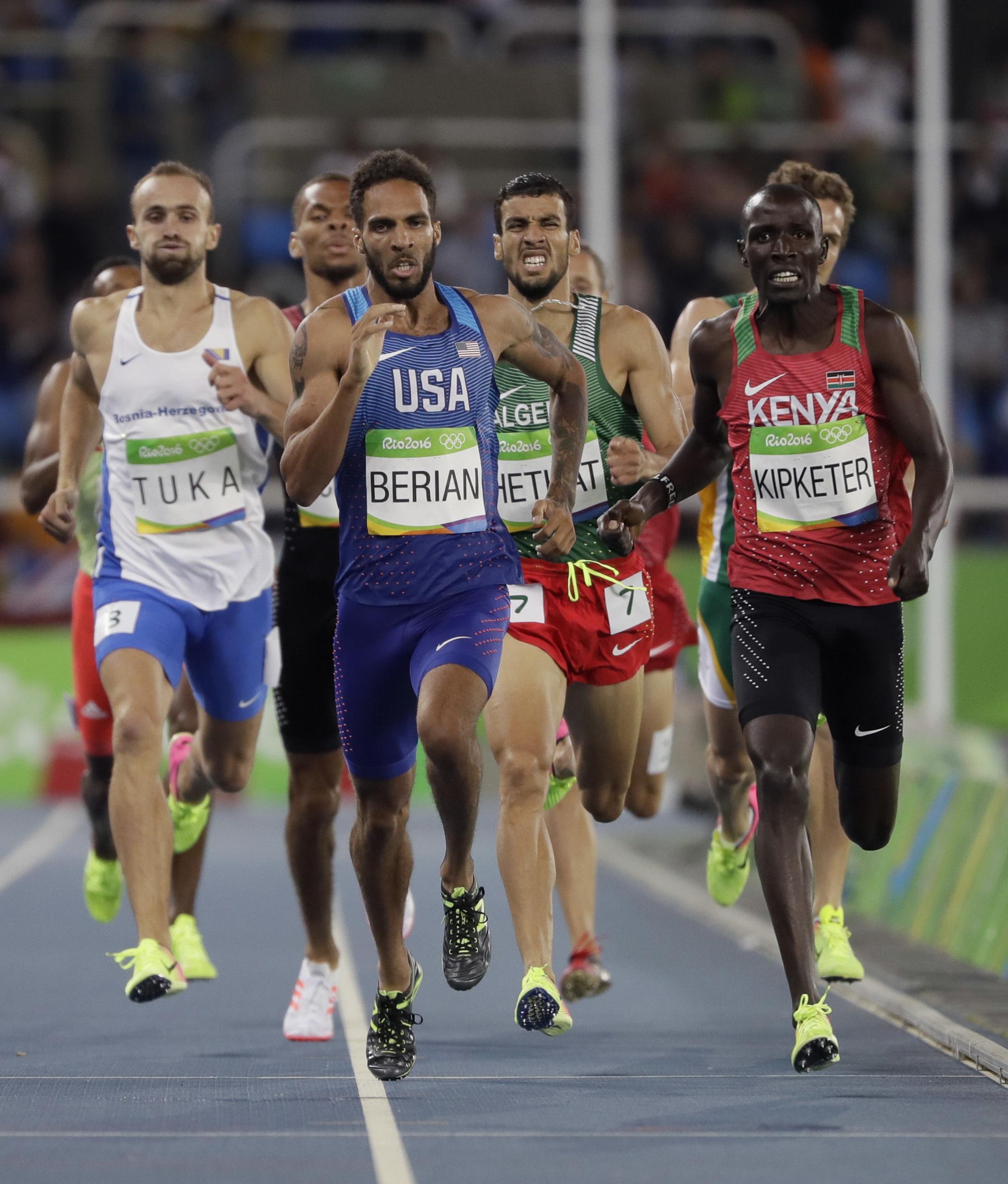 Photo: Coloradan Boris Berian in Men's 800M (AP Photo)