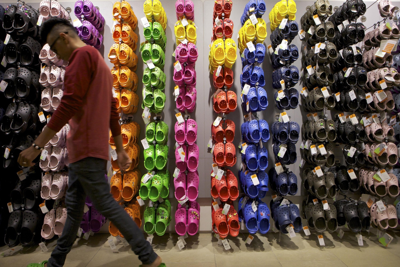 Photo: Crocs shoes in LA (AP Photo)
