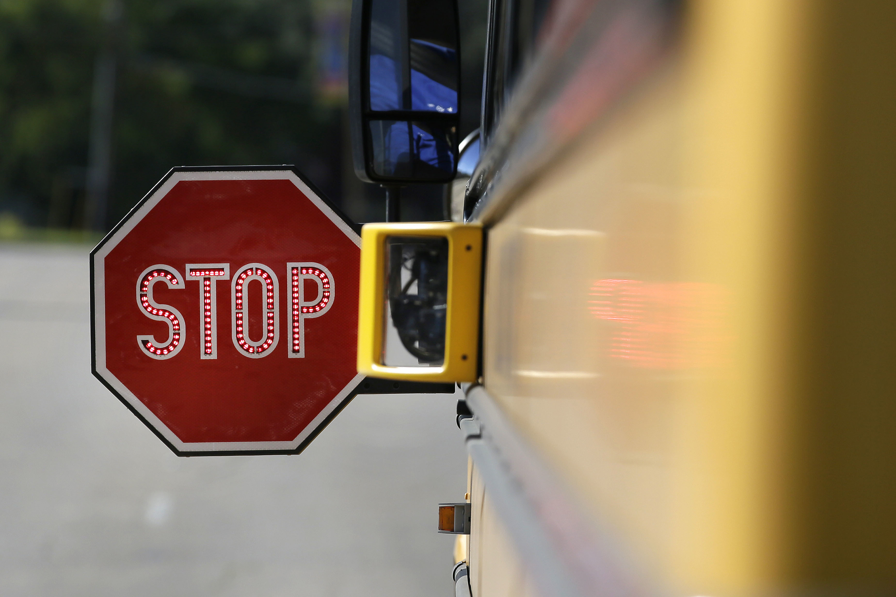 Photo: Stop Sign On School Bus (AP/File)