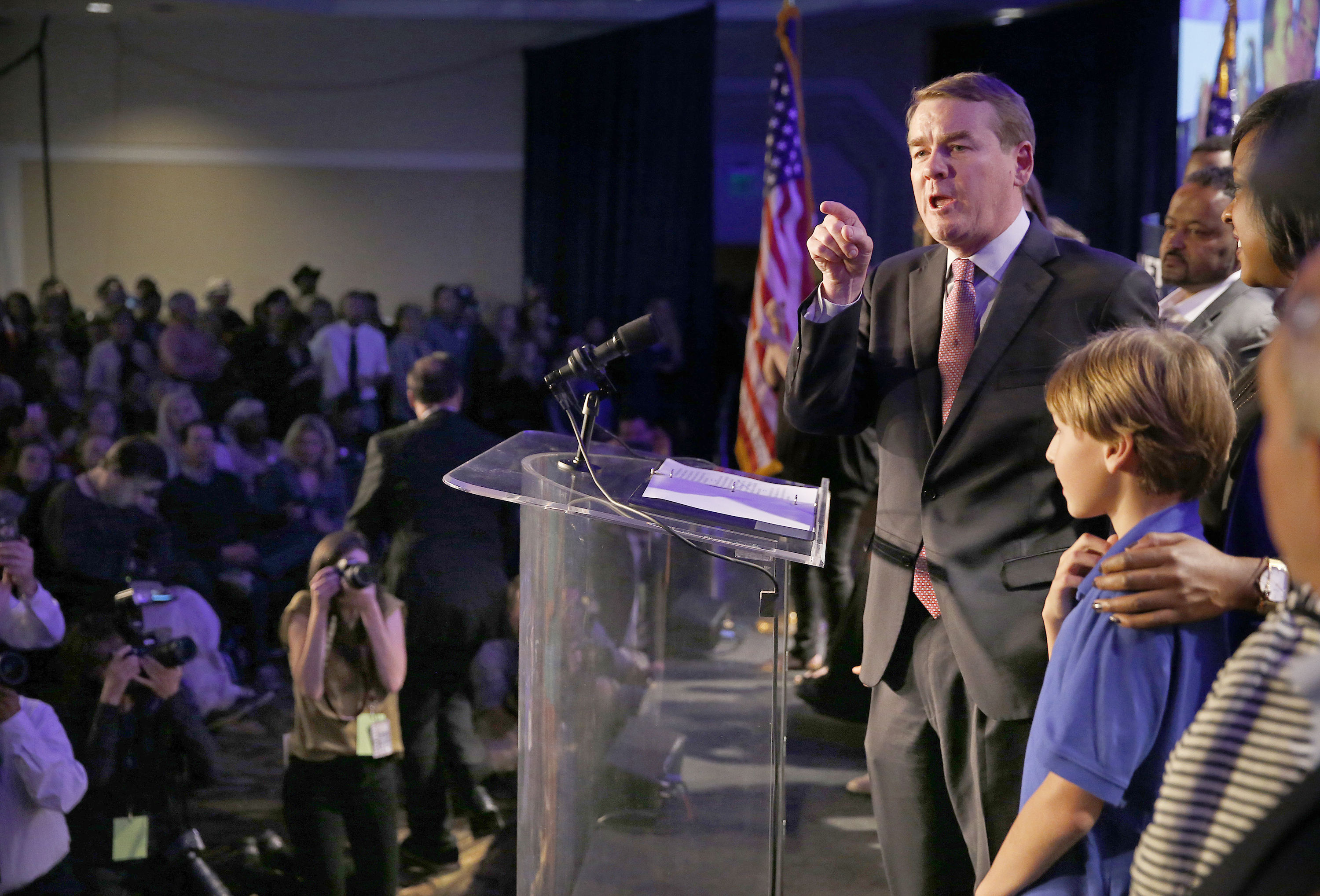 Photo: Election Night Michael Bennet