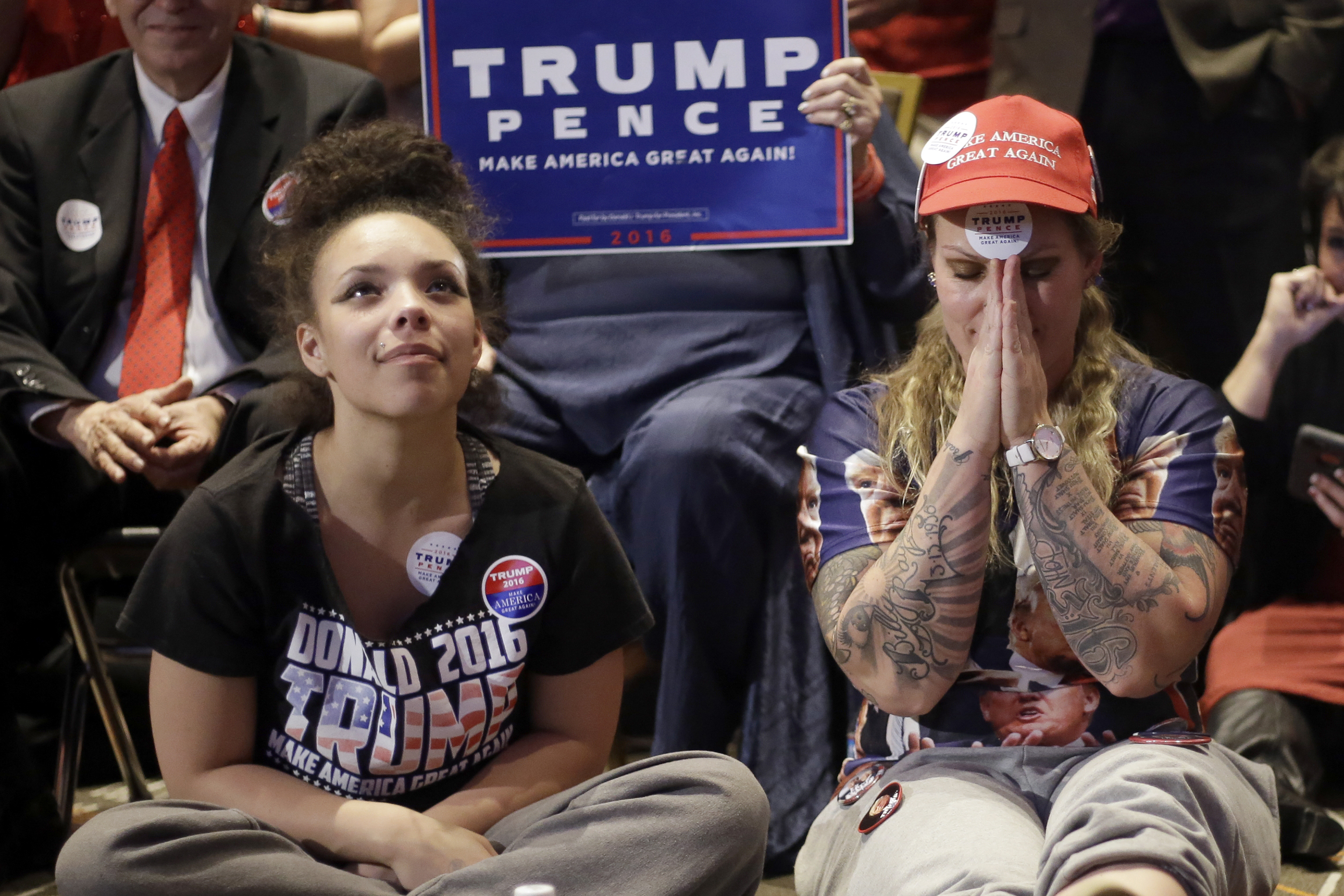 Photo: Trump Supporters Election Night (AP)
