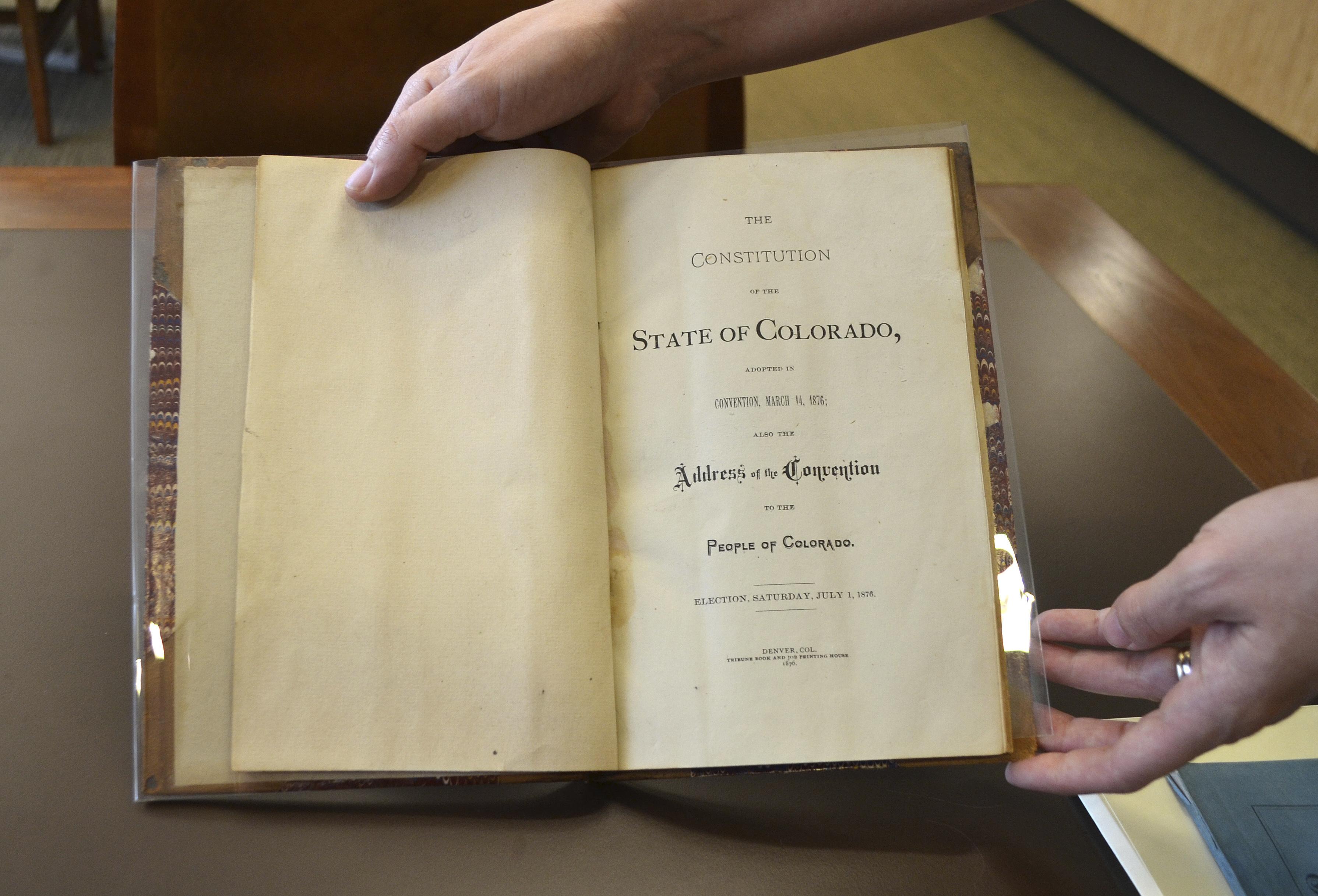 Photo: Colorado Constitution (AP Photo)