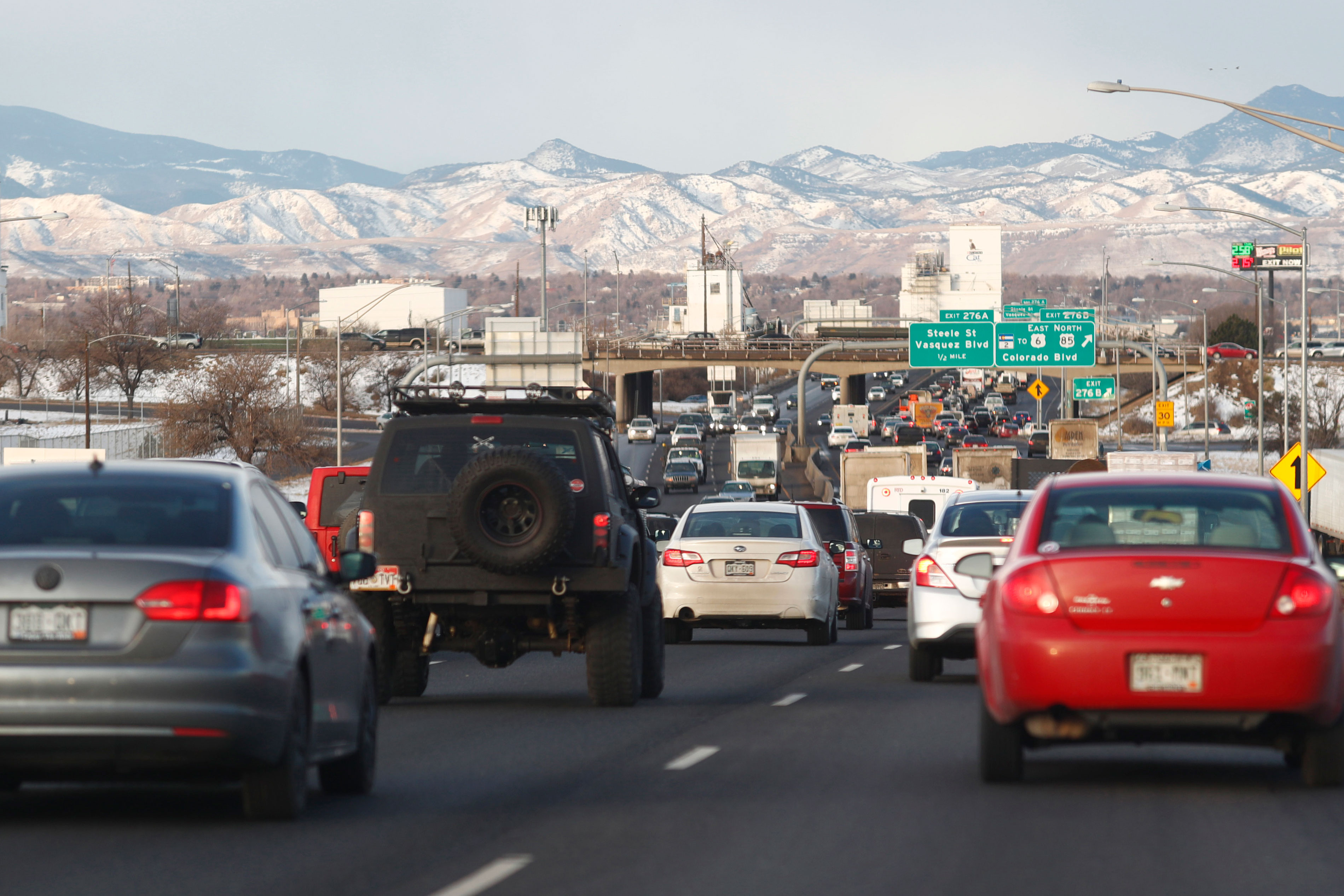Photo: Denver I-70 Morning Traffic