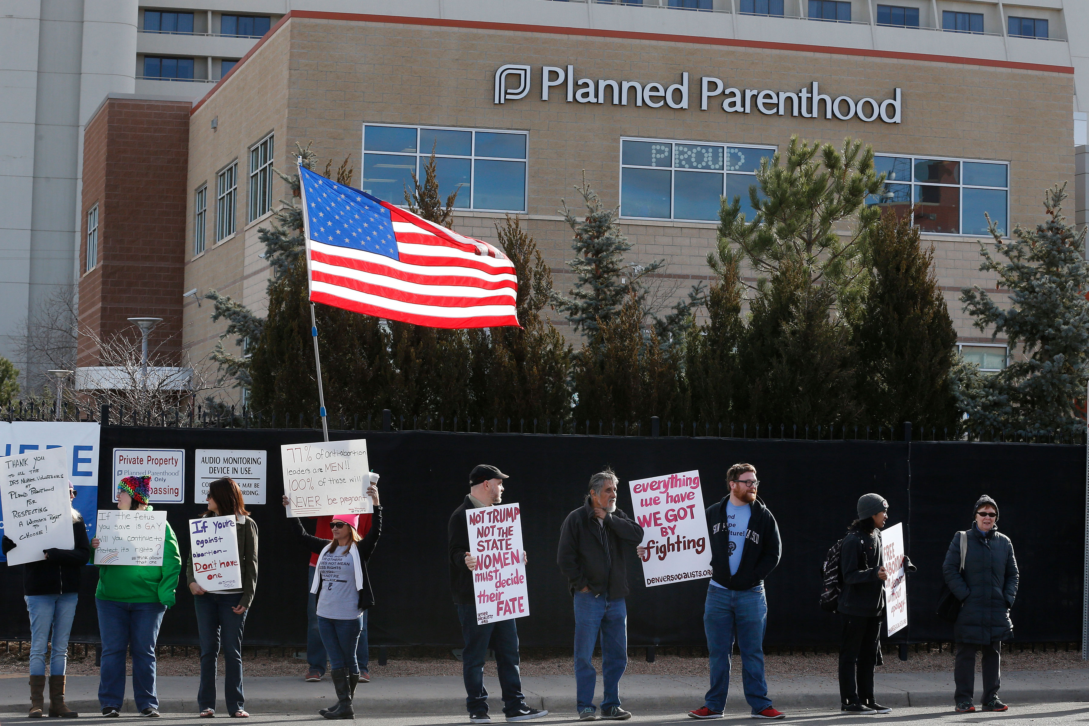 Photo: Planned Parenthood Protest | Colo Abortion Law - AP