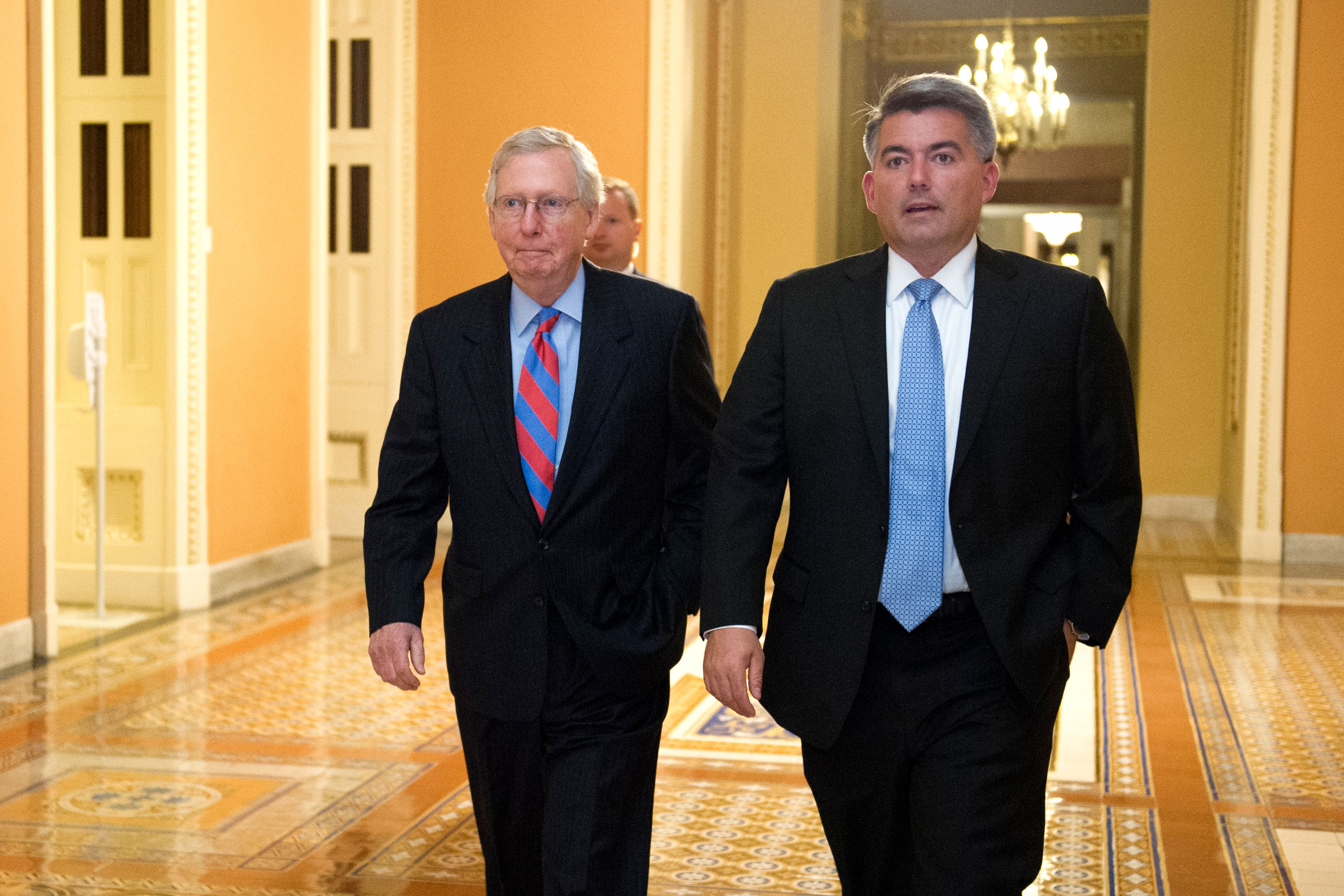 Photo: Senate Health Care Votes | Mitch McConnell And Cory Gardner - AP