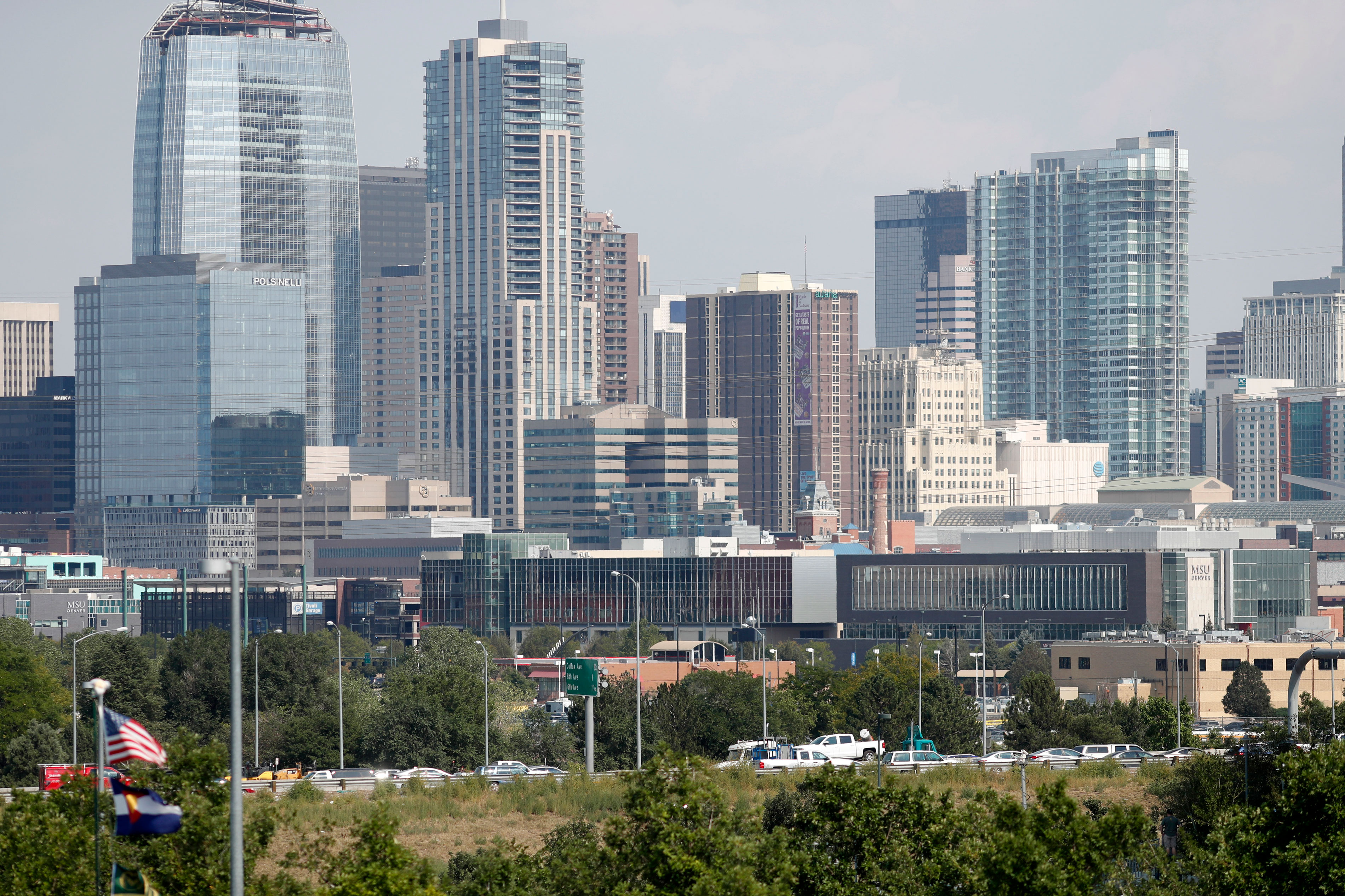 Photo: Denver Skyline | Seen From Mile High Stadium - AP