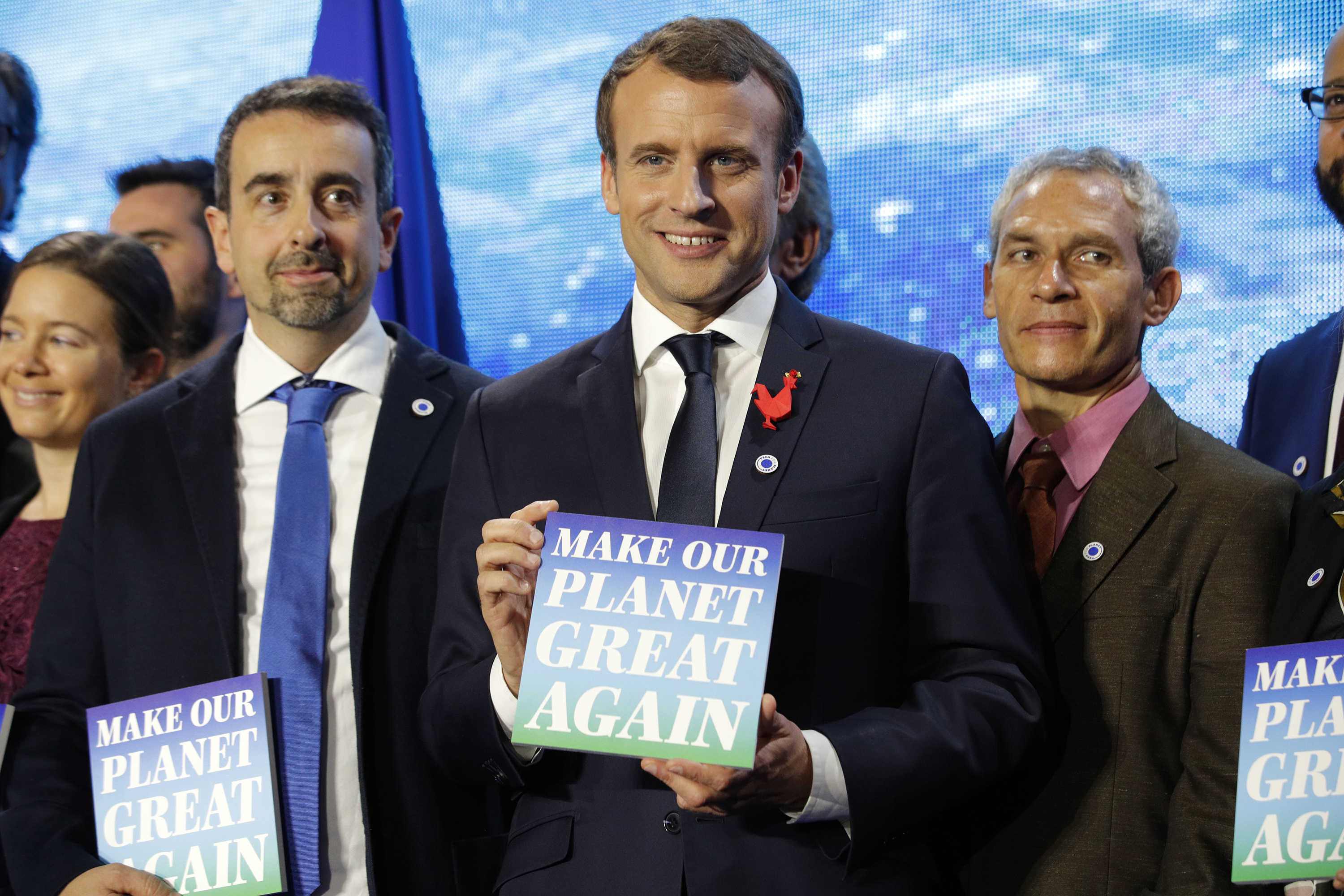 Photo: French President Emmanuel Macron, Make The Planet Great Again