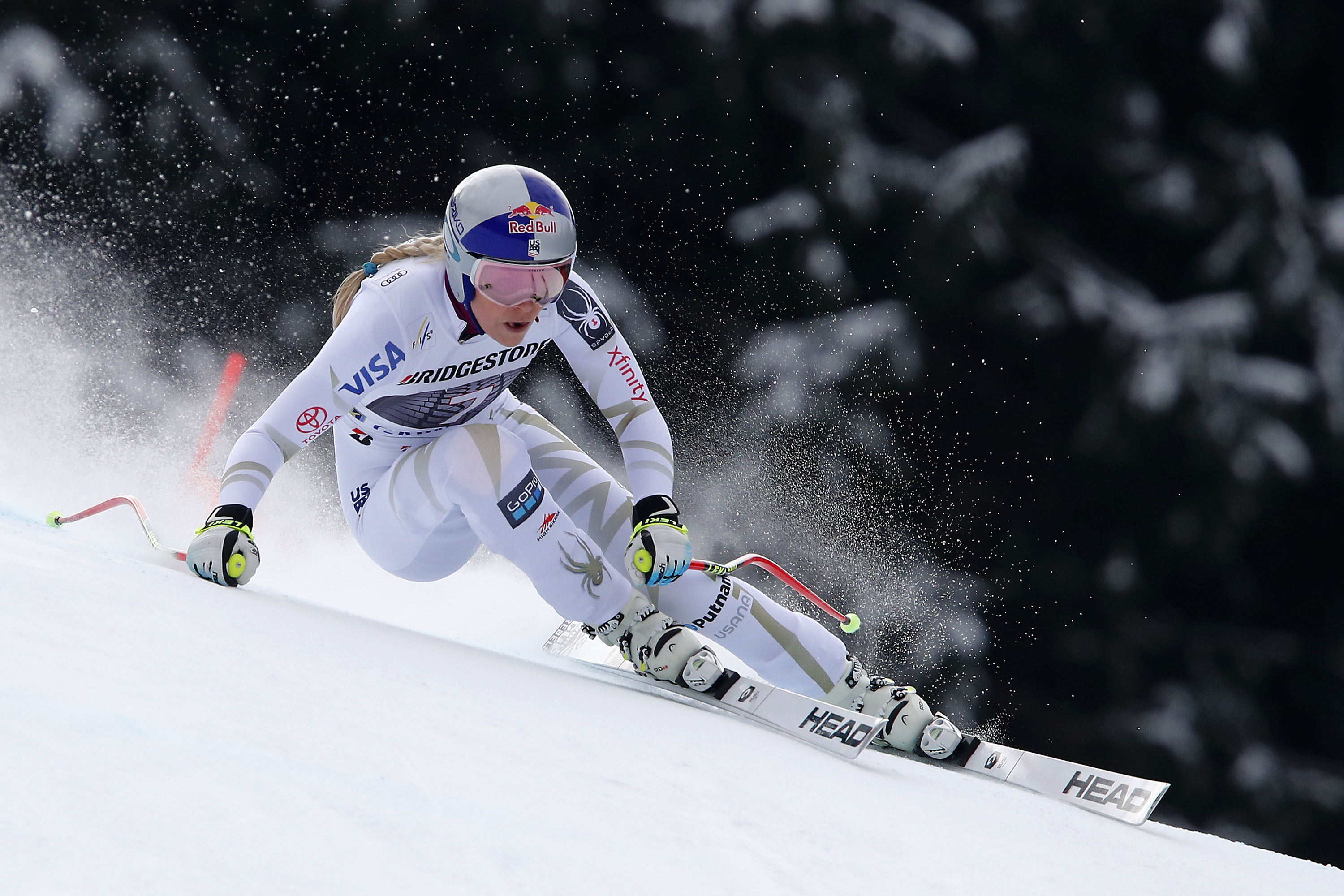 Photo: Lindsey Vonn World Cup Downhill Garmisch Partenkirchen Germany