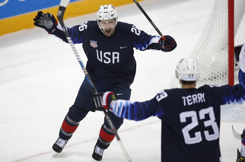 Photo: Troy Terry Hockey 2 2018 Winter Olympics (AP)