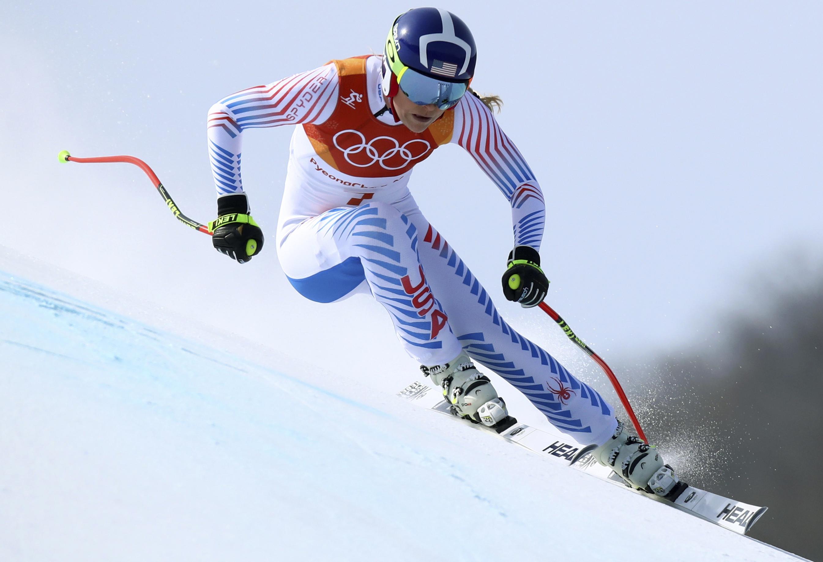 Photo: Lindsey Vonn Downhill 2018 Winter Olympics (AP)