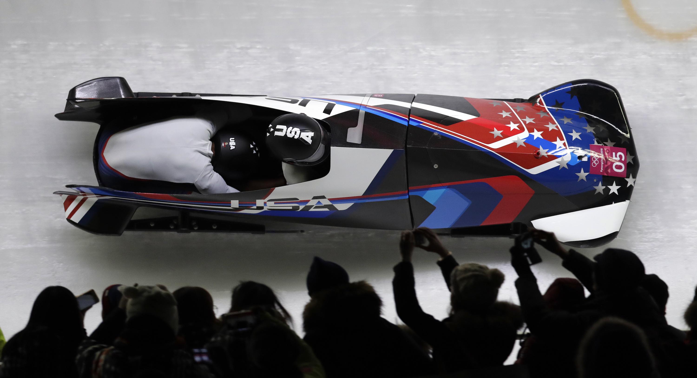 Photo: Lauren Gibbs Bobsled 2018 Winter Olympics (AP)
