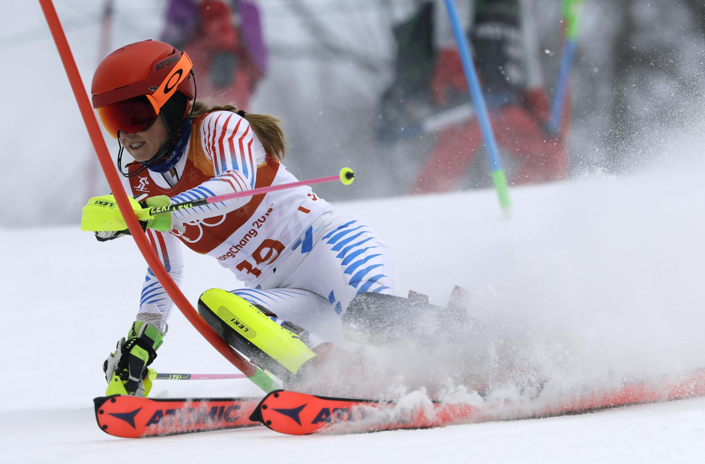 Photo: Mikaela Shiffrin Cmbined 2018 Winter Olympics (AP)