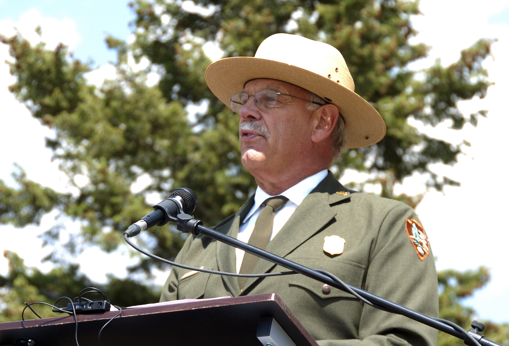 Photo: Yellowstone National Park Superintendent Dan Wenk