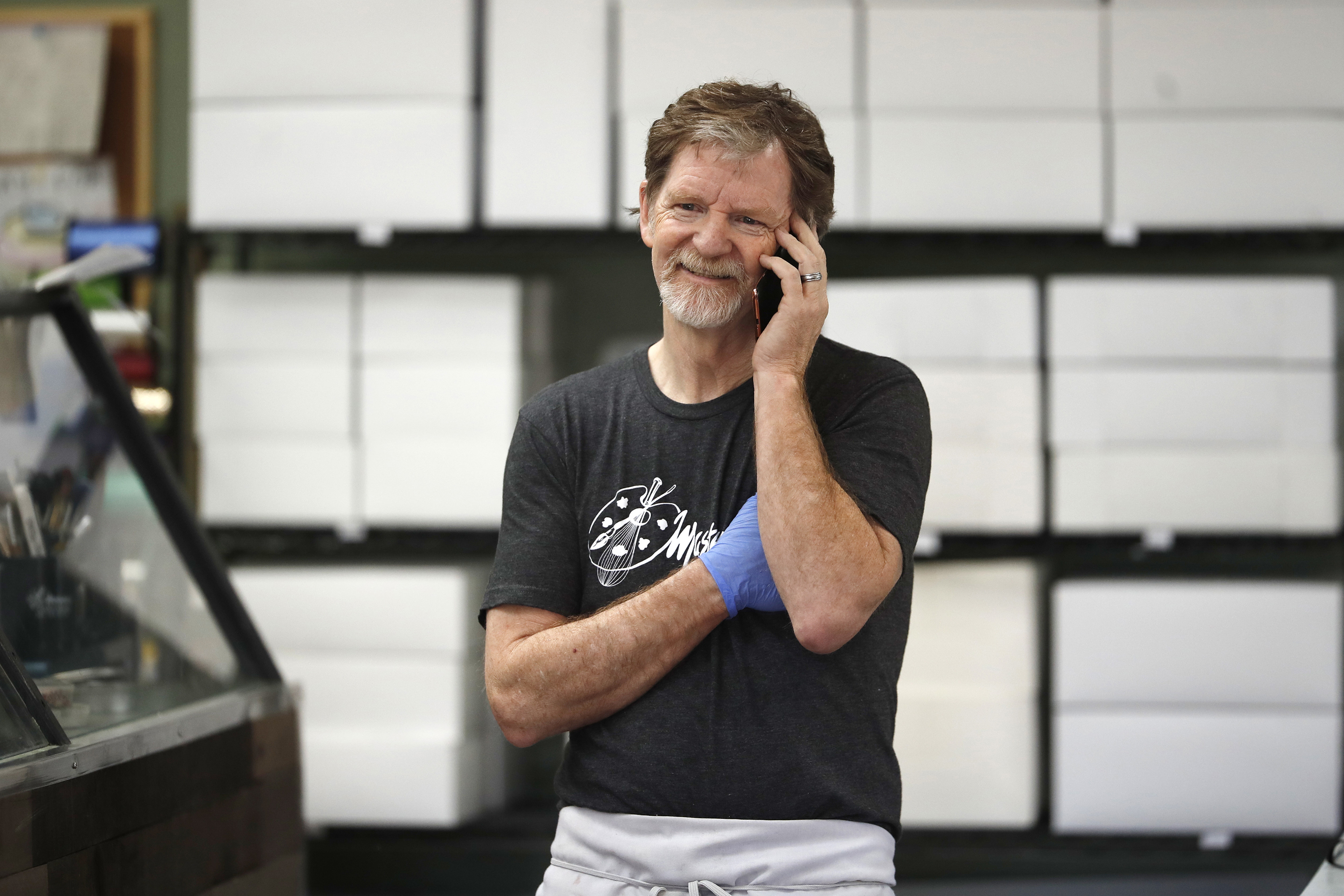 Photo: Masterpiece Jack Phillips On Phone AP (6-4-18)