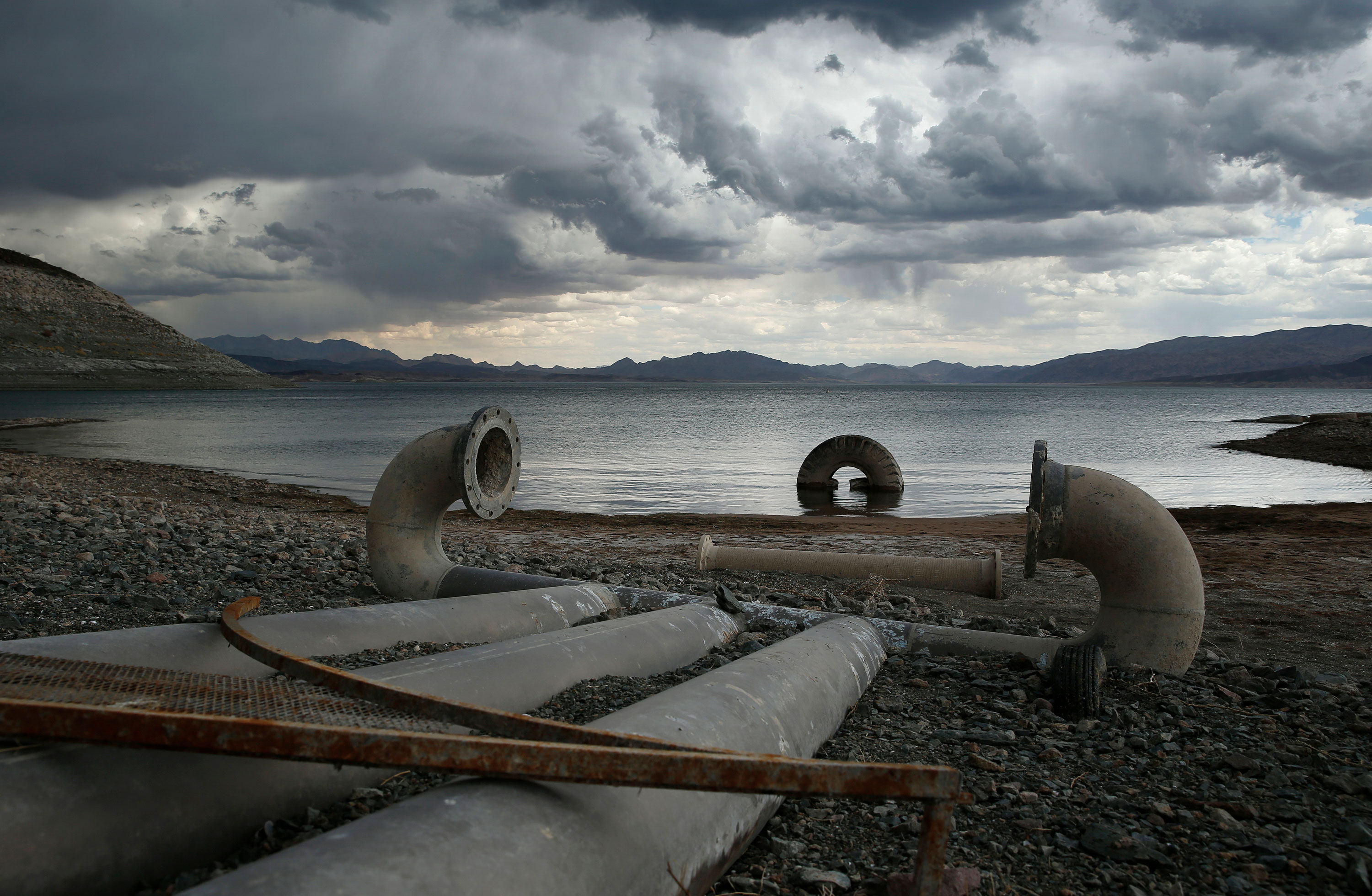Photo: Colorado River Drought | Exposed Lake Mead Intake Pipes - AP