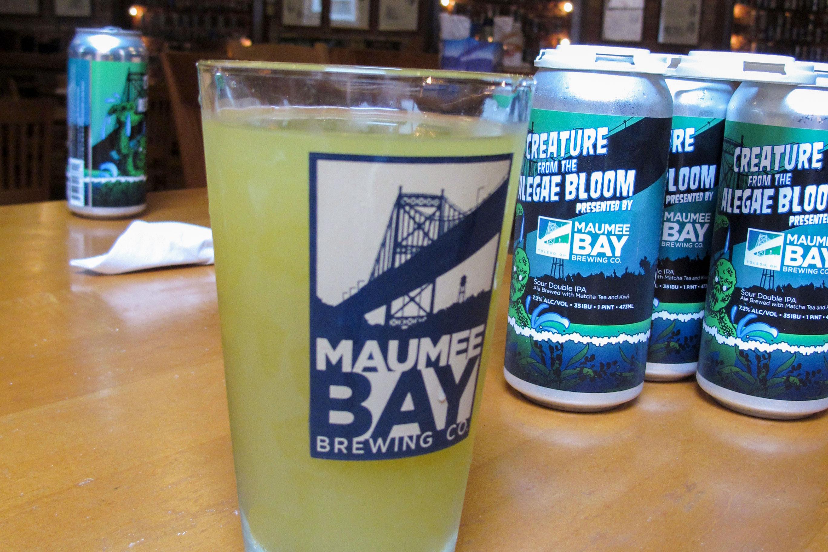 Photo: Green Algae Bloom Beer | Maumee Bay Brewing - AP