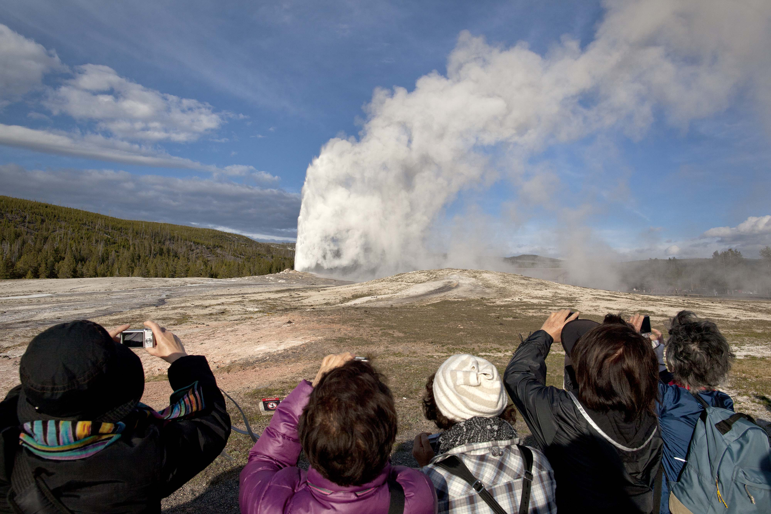 Photo: Old Faithful | Yellowstone thermal activity- AP