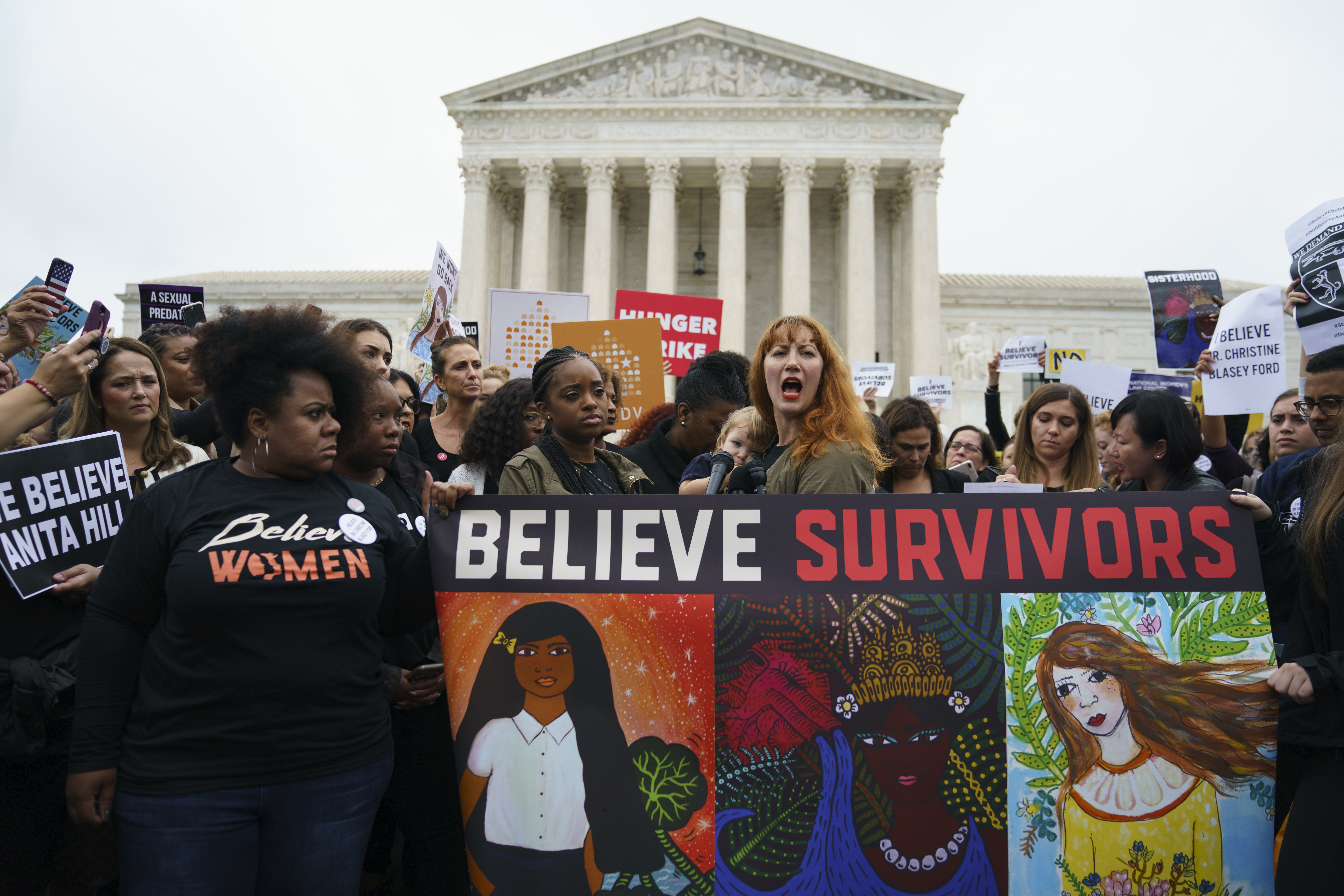 Photo: Believe Survivors SCOTUS Protest - AP Photo