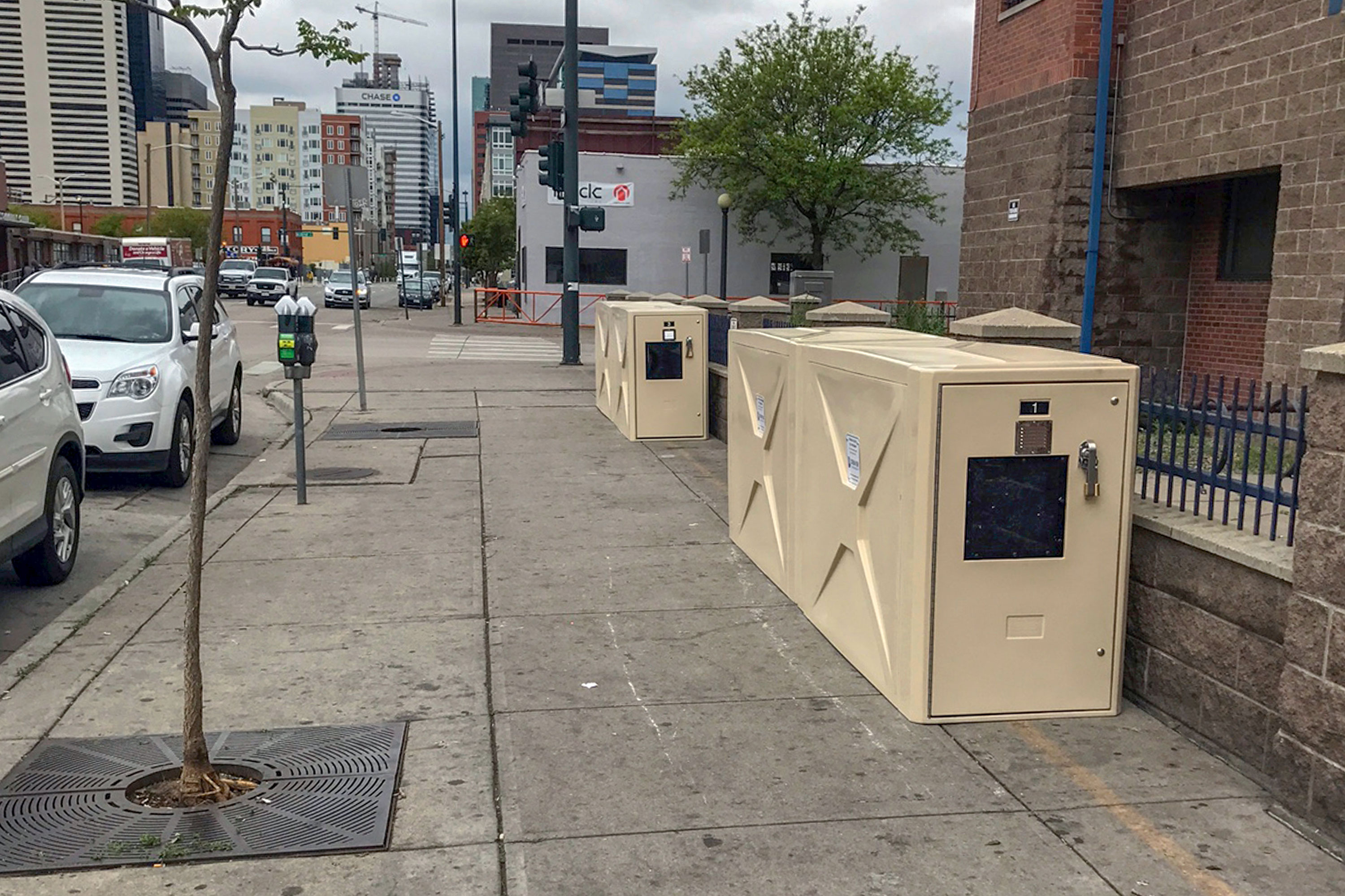 Photo: Denver Homeless Lockers - AP