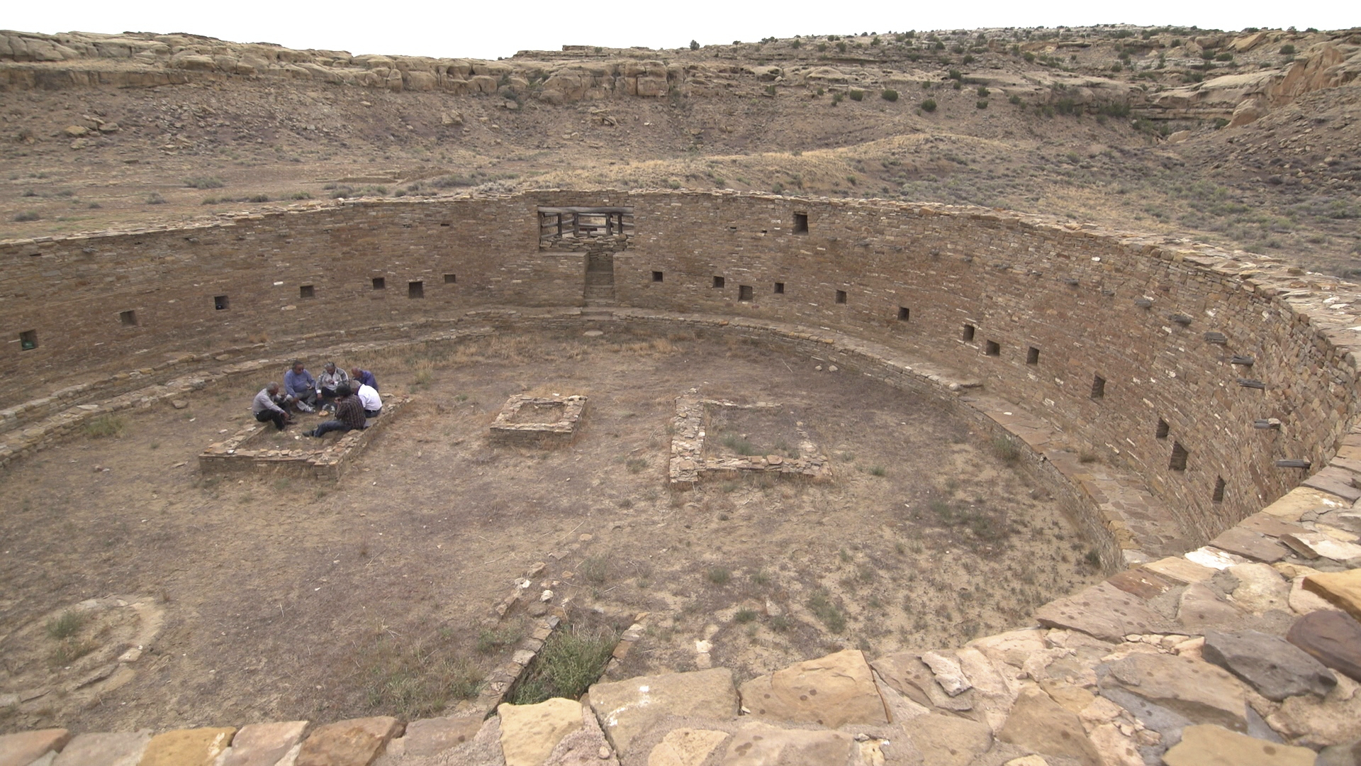 Photo: PBS Native America Docuseries | an ancient kiva in Pueblo Bonito in Chaco Culture National Historical Park- AP