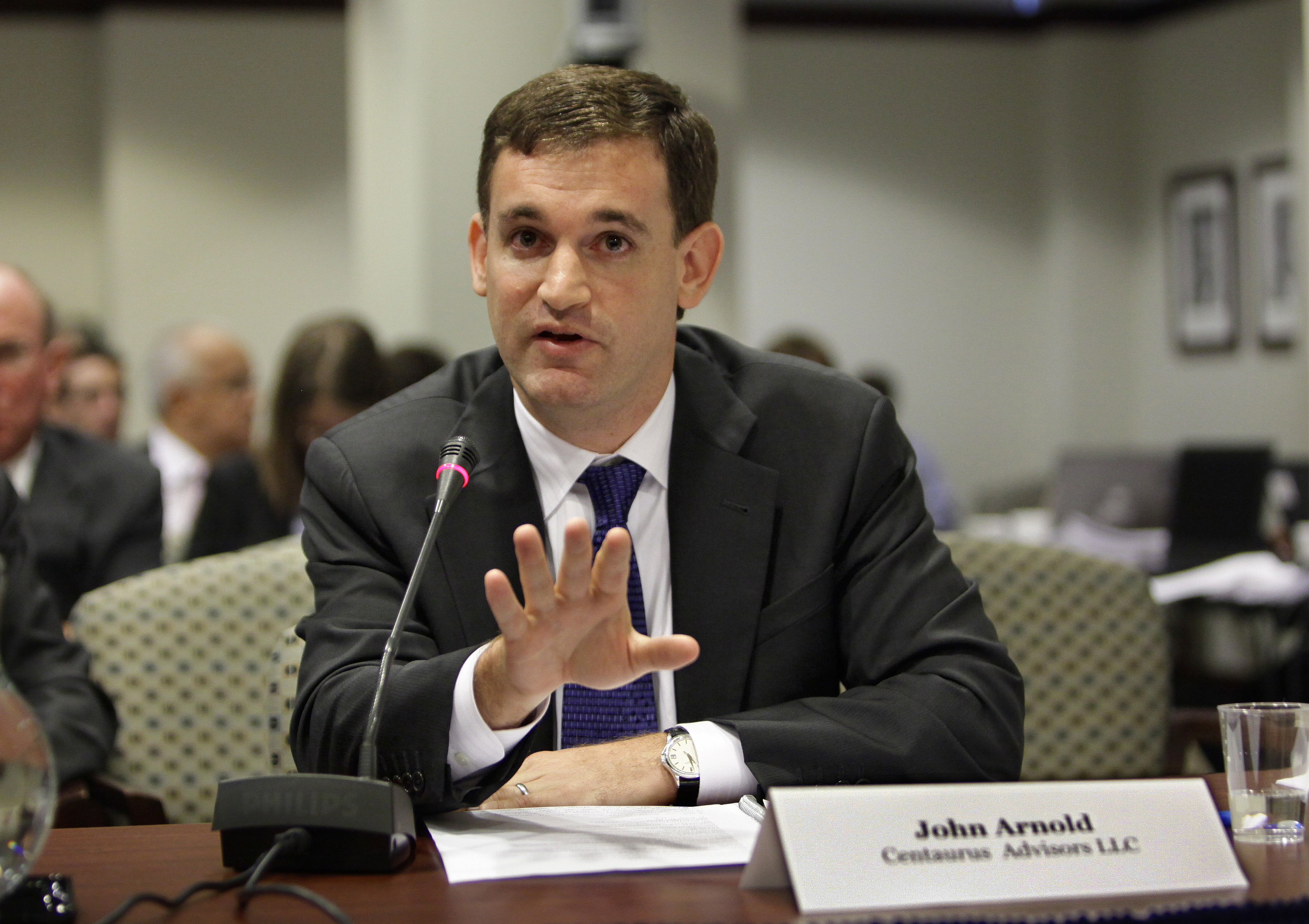 Photo: ELECTION 2018 REDISTRICTING MONEY |John Arnold testifies before the The Commodity Futures Trading Commission in Washington, D.C. - AP