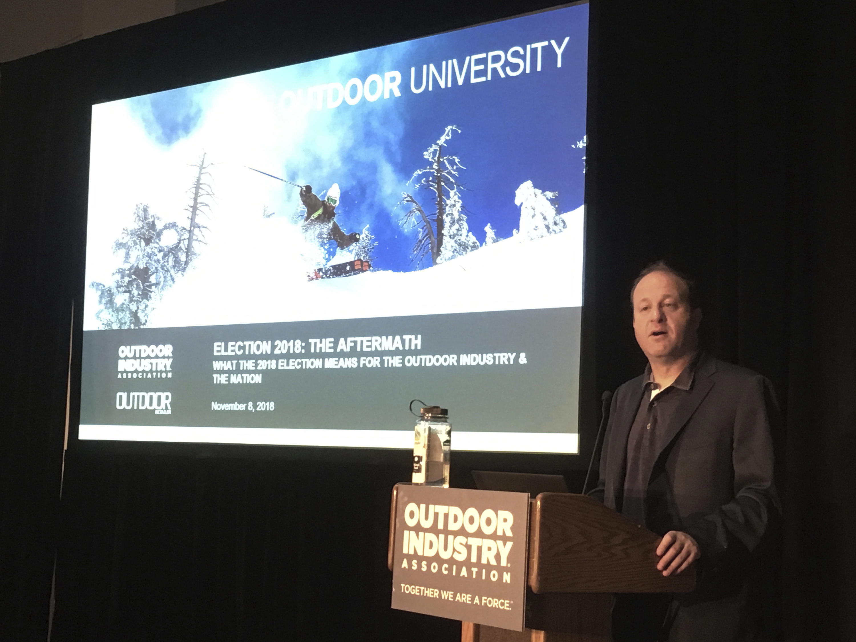 Photo: Jared Polis Outdoor Retailer Winter Market
